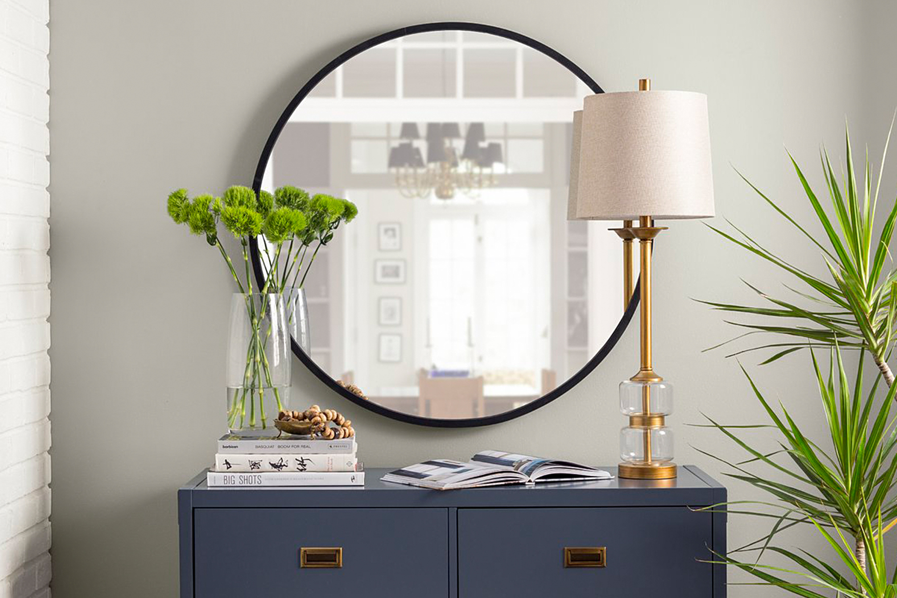 Best Entryway Mirrors: Stylish Hall Mirror Ideas For Entry with Rhein Accent Mirrors (Image 9 of 30)