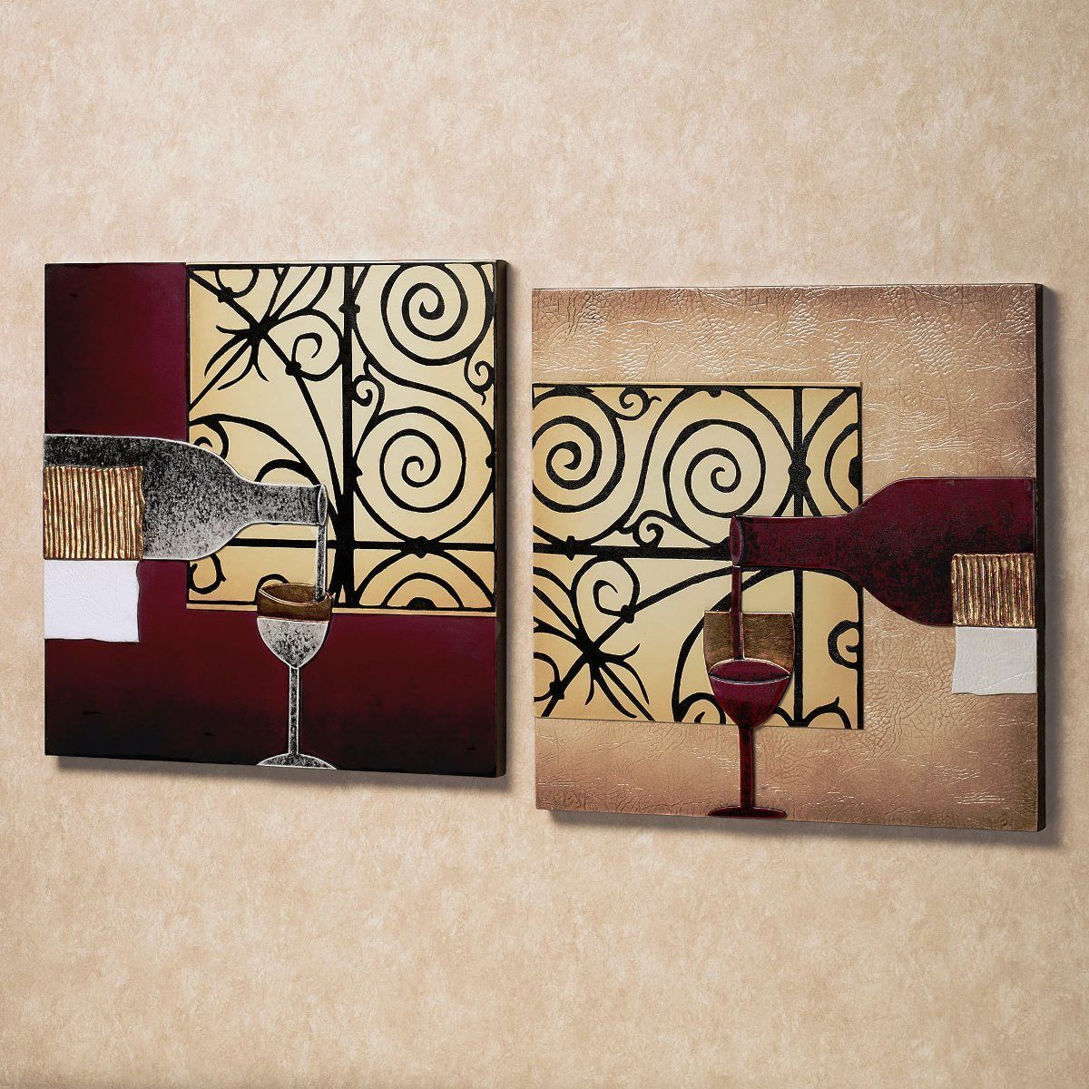 Best Wine Wall Art Ideas | Wall Art Decor | Diy Wall Decor In 3 Piece Magnolia Brown Panel Wall Decor Sets (View 13 of 30)