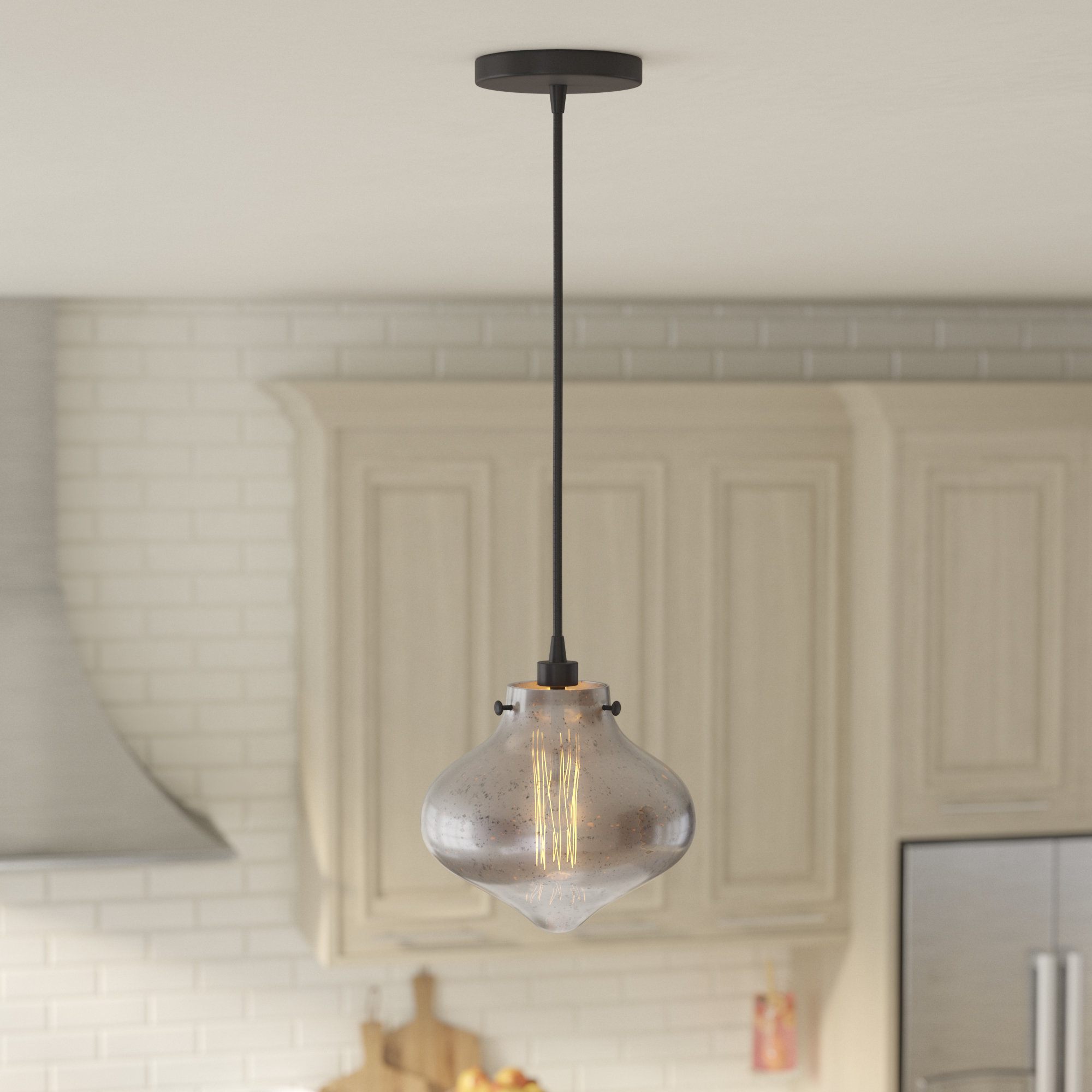 Betsy 1 Light Glass Shade Schoolhouse Pendant Intended For Betsy 1 Light Single Globe Pendants (View 8 of 30)