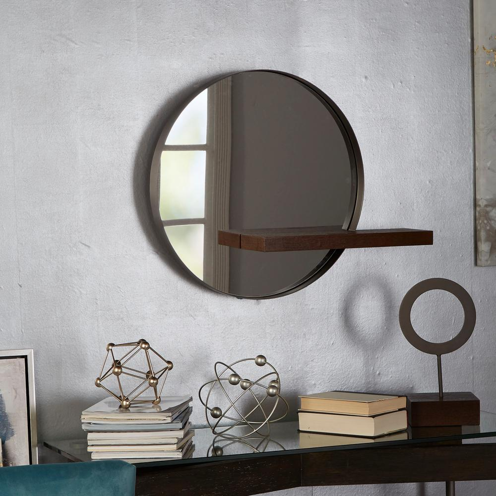 Bezaubernd Industrial Metal Wall Mirror Shelf Copper Finish Throughout Industrial Modern & Contemporary Wall Mirrors (View 5 of 30)