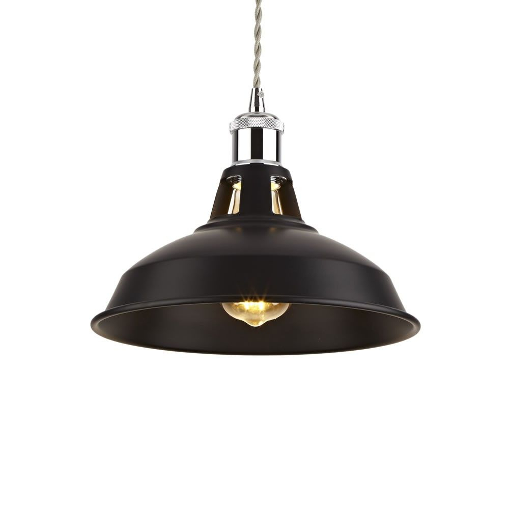 Biard Brera Black Iron Pendant Light With Various Pendant in Macon 1-Light Single Dome Pendants (Image 10 of 30)