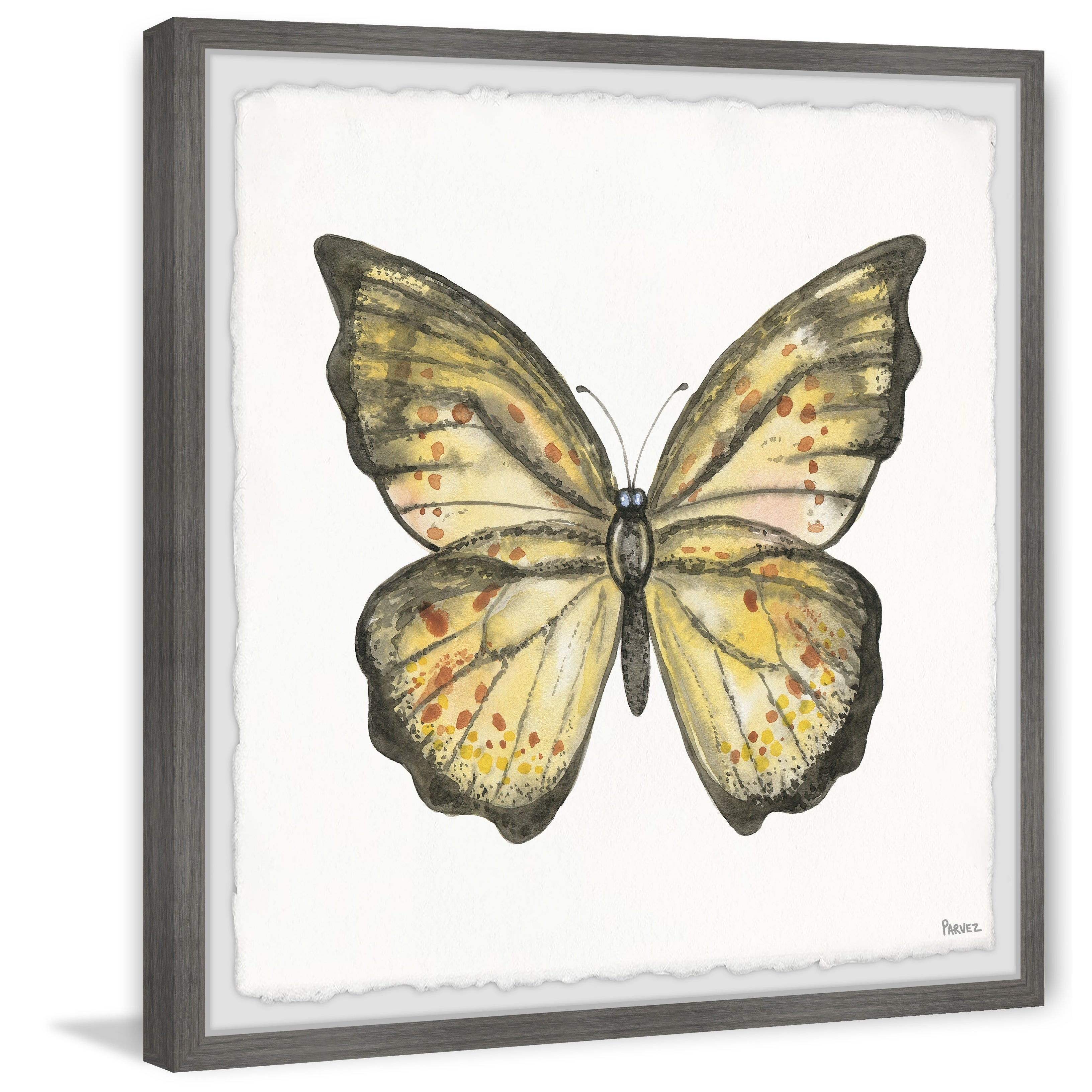 'big Yellow Mariposa' Framed Painting Print For Mariposa 9 Piece Wall Decor (View 1 of 30)