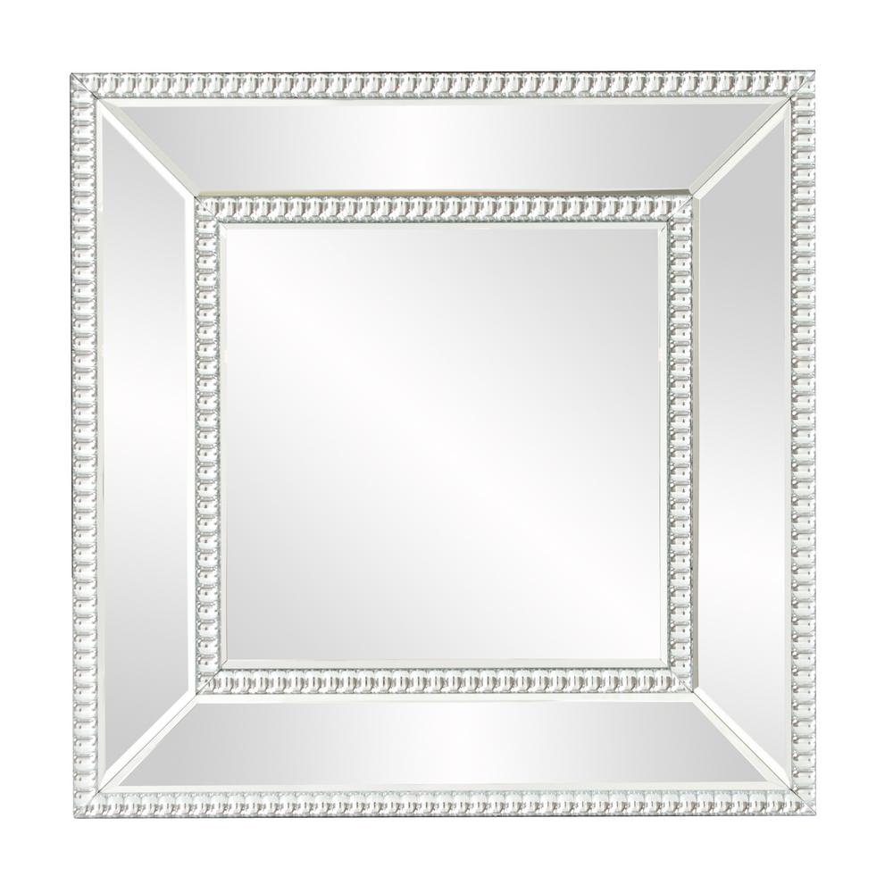 Bijou Square Mirror 99173 - The Home Depot with regard to Lidya Frameless Beveled Wall Mirrors (Image 11 of 30)