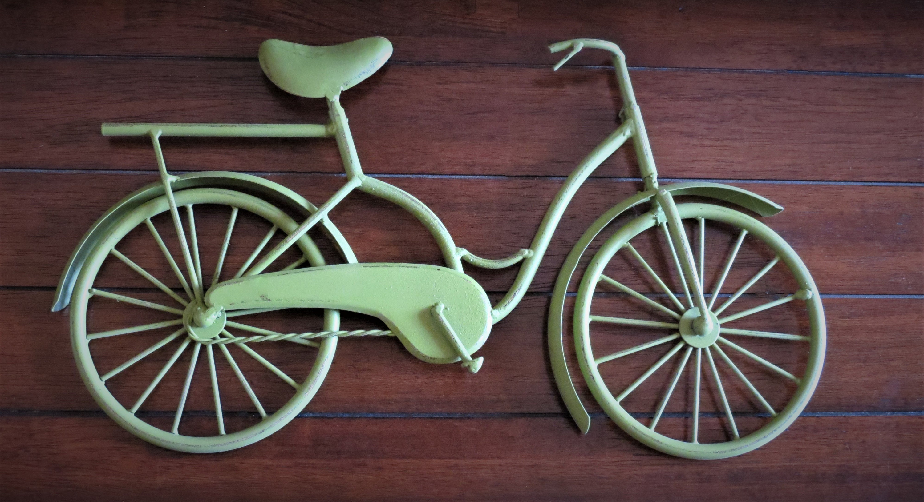 Bike Wall Decor/ Eden Green Or Pick Your Color/ Bicycle Metal Wall Decor/ Unique Wall Idea/ Metal Wall Hanging/ Bicycling Cyclist / Wall Art Throughout Bike Wall Decor (View 9 of 30)