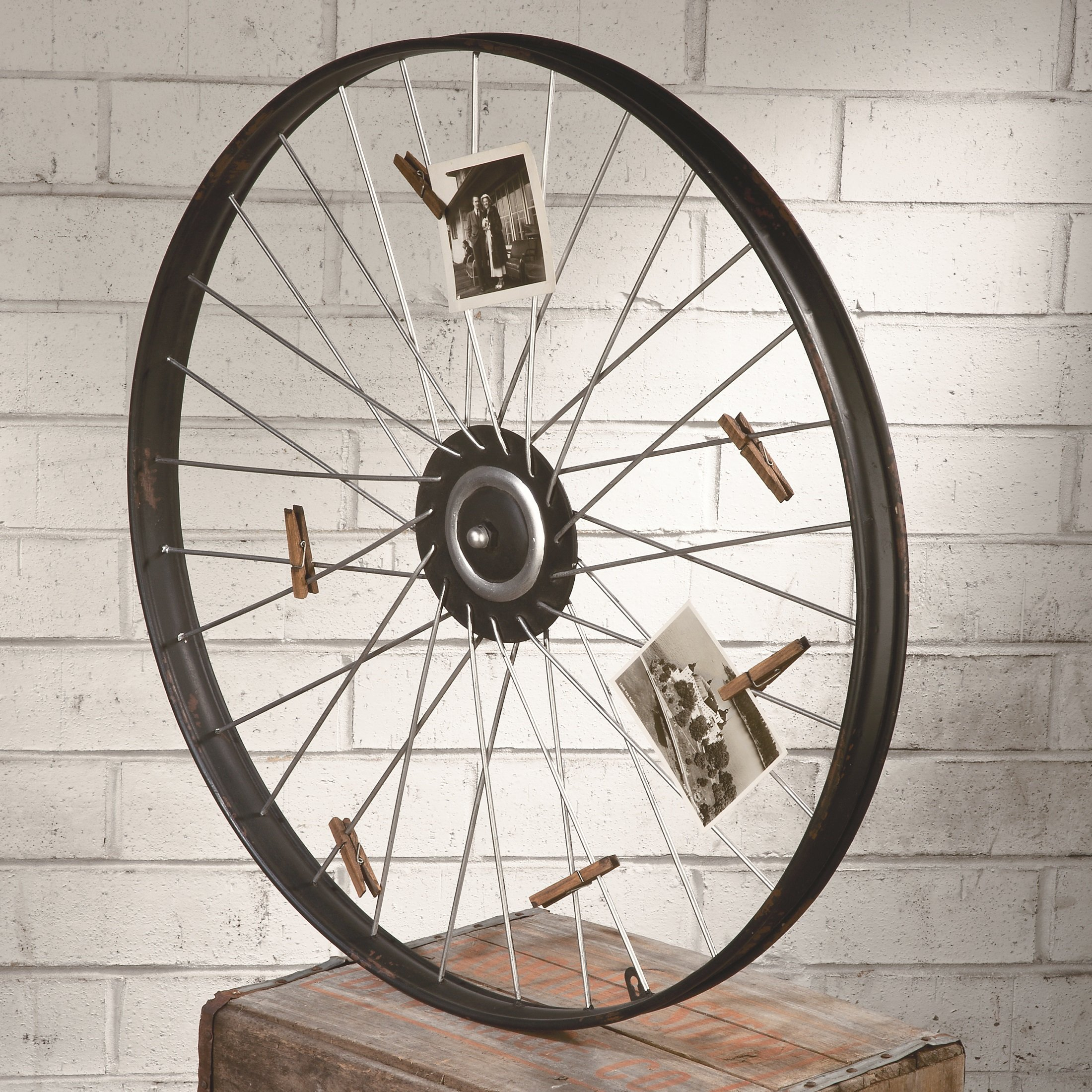 Bike Wheel Wall Decor | Wayfair inside 4 Piece Handwoven Wheel Wall Decor Sets (Image 5 of 30)