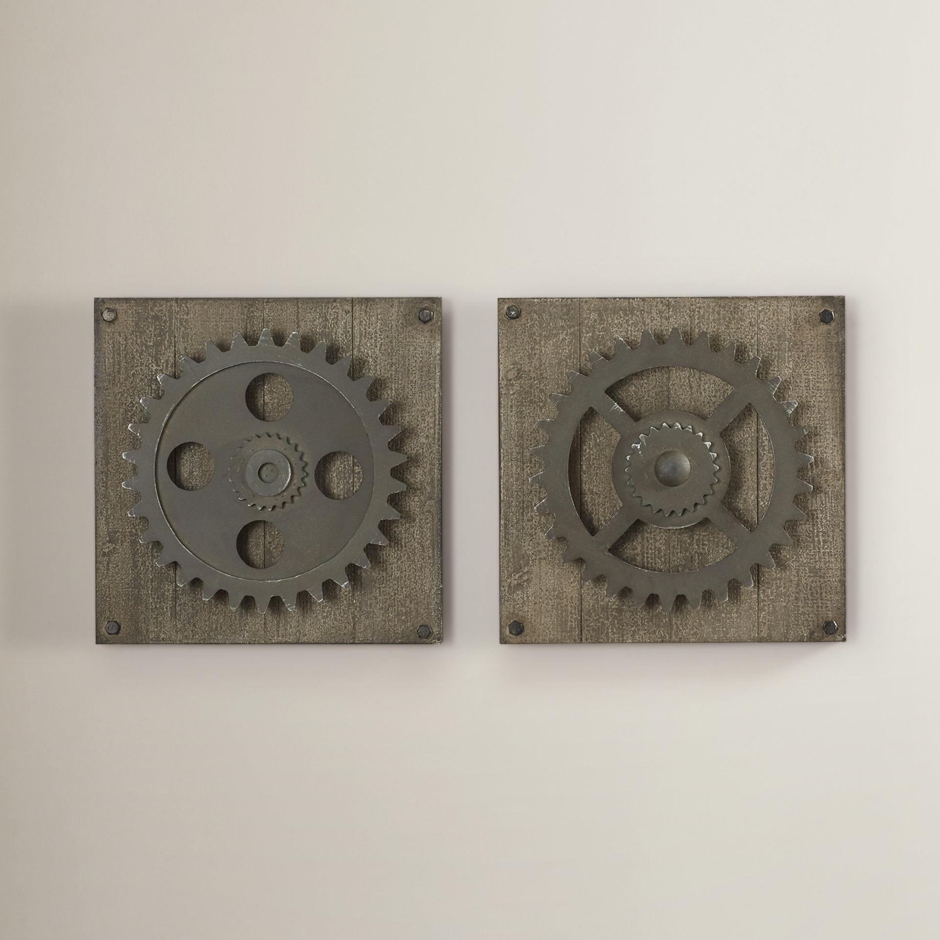 Bike Wheel Wall Decor | Wayfair regarding 4 Piece Handwoven Wheel Wall Decor Sets (Image 7 of 30)