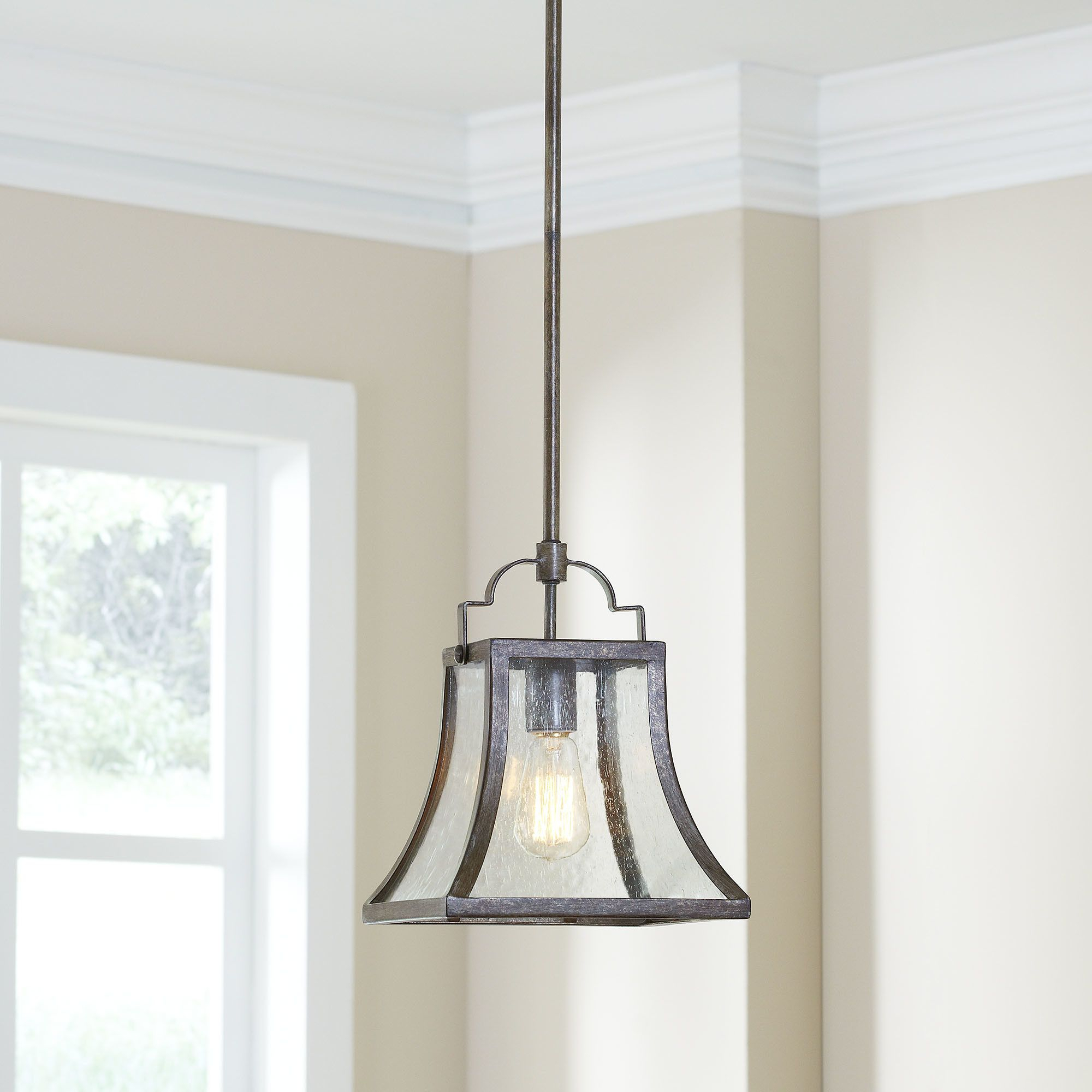 Birch Lane Hawkesbury 1 Light Foyer Mini Pendant | Lights for Armande 3-Light Lantern Geometric Pendants (Image 8 of 30)