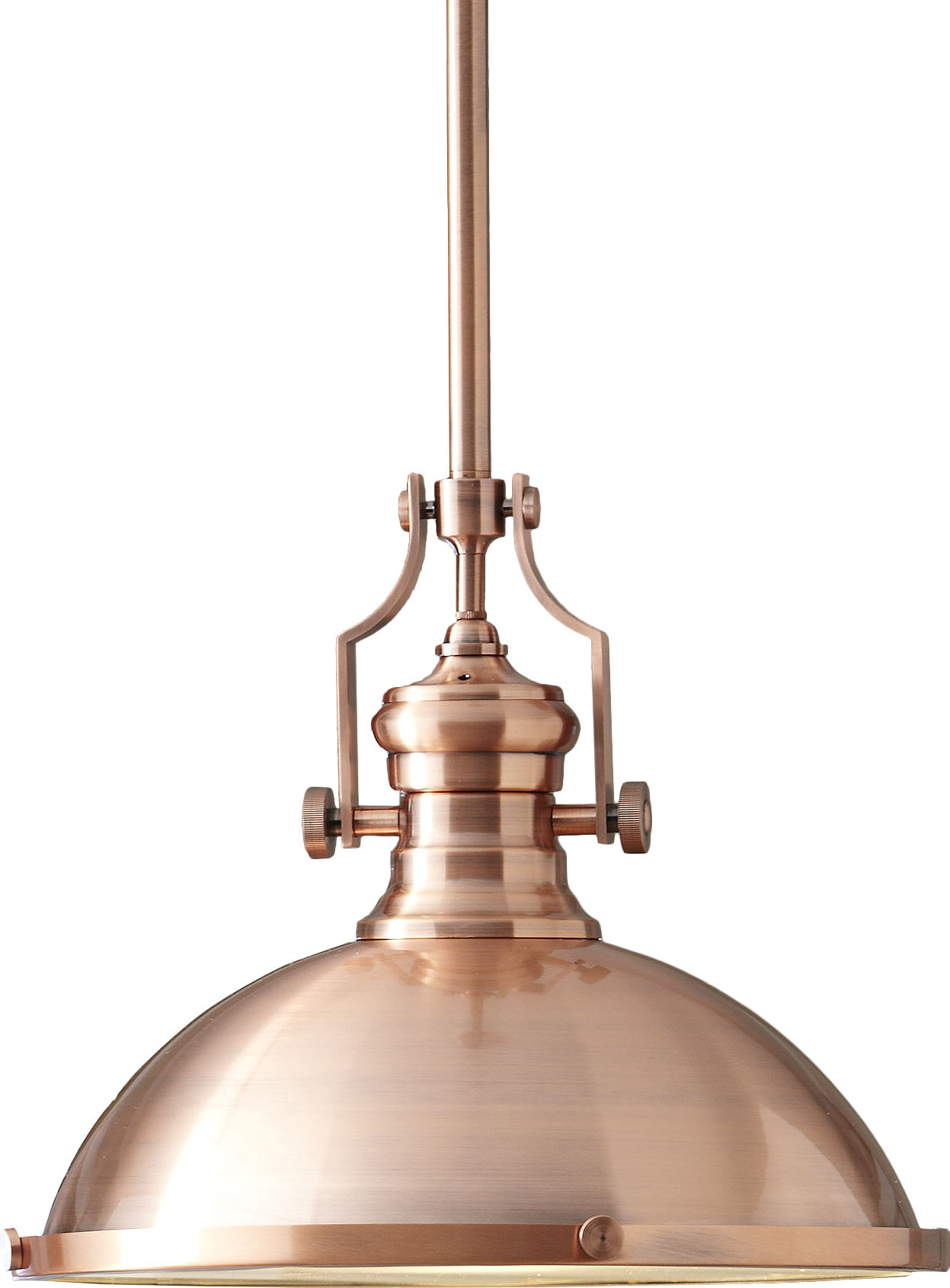 Birch Lane™ Heritage 1-Light Single Dome Pendant with regard to Melora 1-Light Single Geometric Pendants (Image 3 of 30)