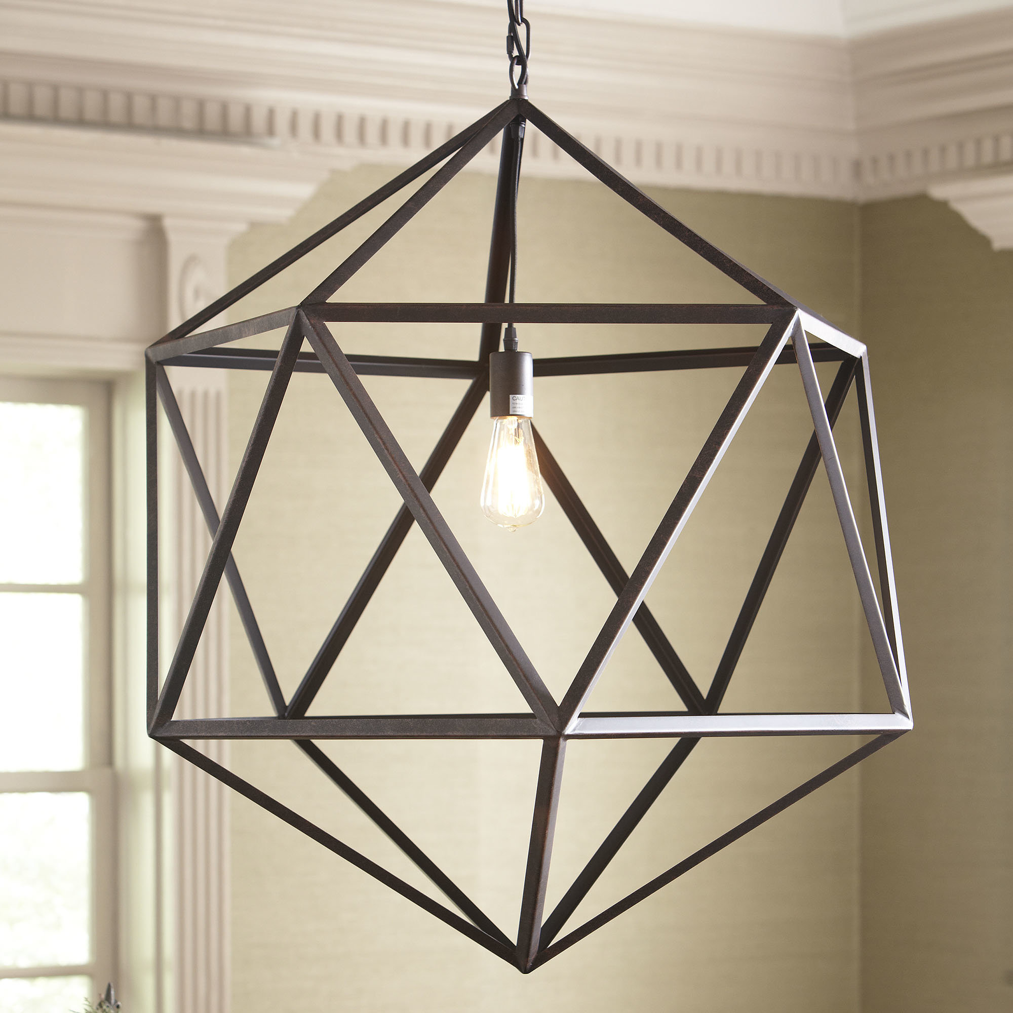 Birch Lane™ Heritage 1 Light Unique / Statement Geometric Pendant Throughout 1 Light Unique / Statement Geometric Pendants (View 5 of 30)