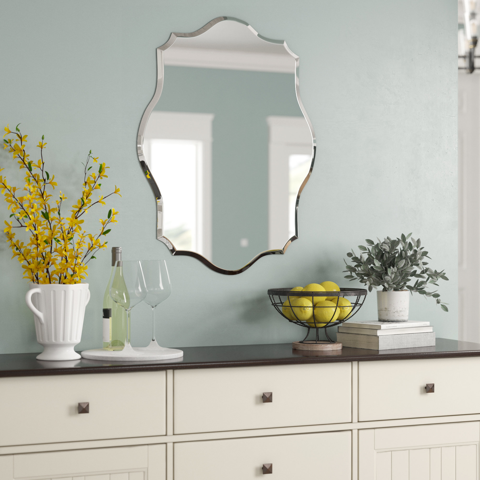 Birch Lane™ Heritage Guidinha Modern & Contemporary Accent Inside Menachem Modern & Contemporary Accent Mirrors (Image 4 of 30)