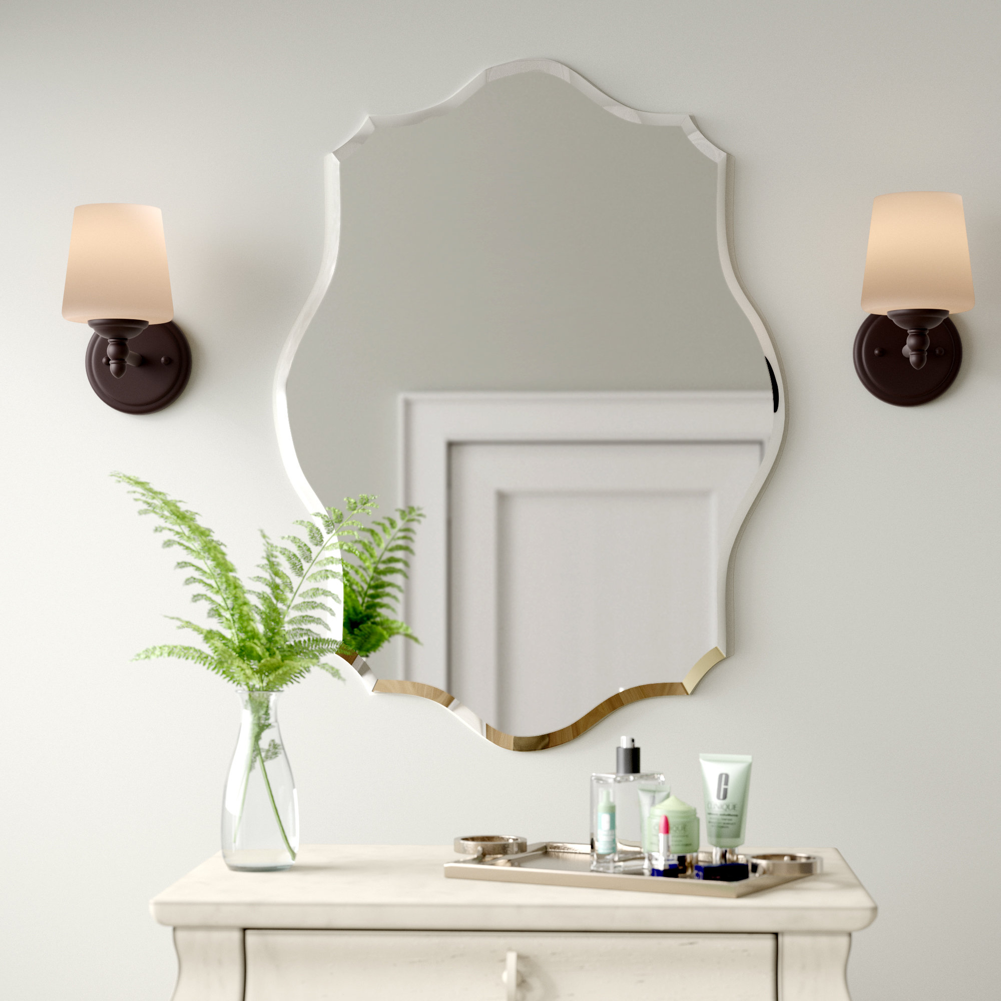 Birch Lane™ Heritage Guidinha Modern & Contemporary Accent Mirror In Menachem Modern & Contemporary Accent Mirrors (Image 5 of 30)