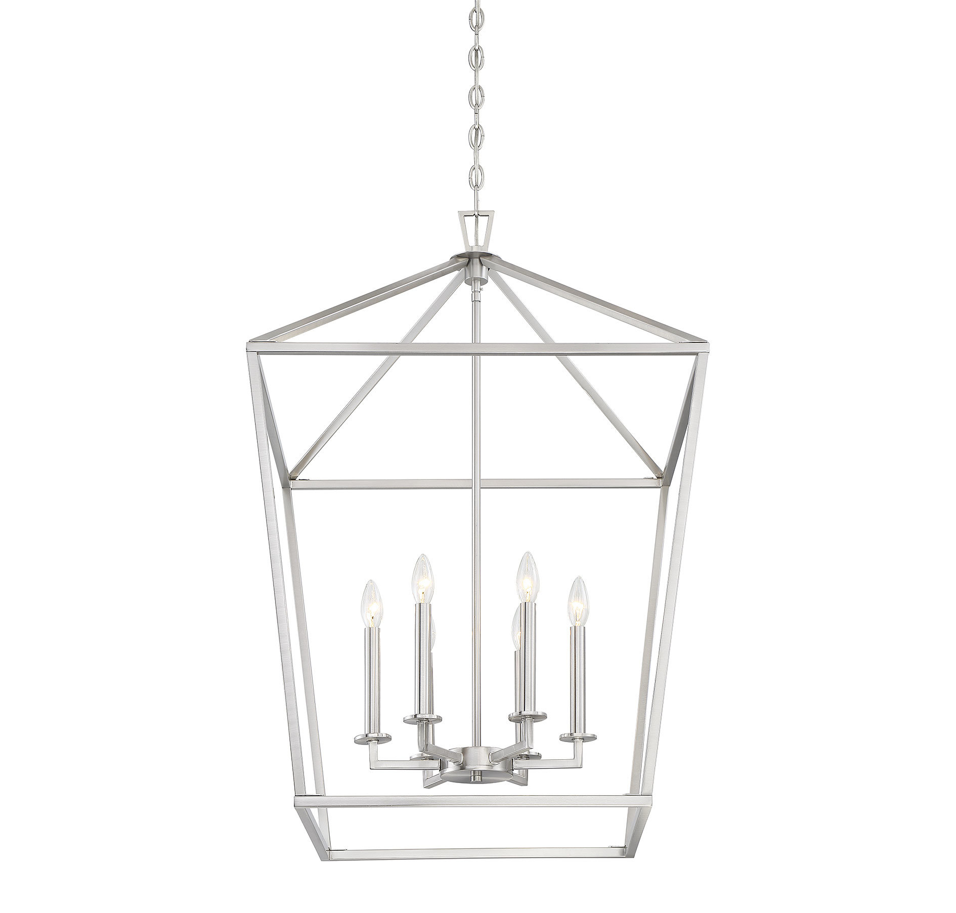 Birch Lane™ Heritage Israel 6-Light Lantern Geometric Pendant pertaining to Armande 3-Light Lantern Geometric Pendants (Image 10 of 30)