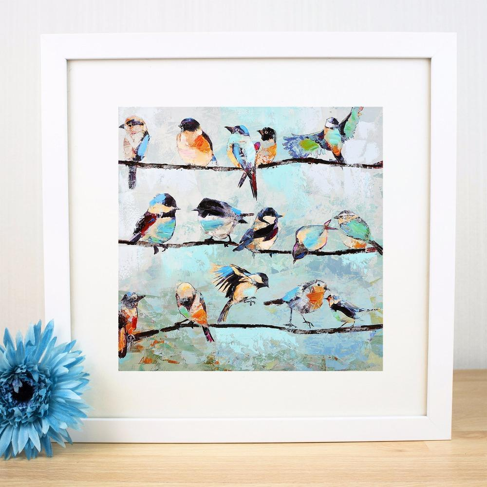 Birds On A Wire Artwork Canvas Art Print Painting Poster Wall Pictures For  Living Room Home Decorative Decor No Frame intended for Birds on a Wire Wall Decor (Image 6 of 30)
