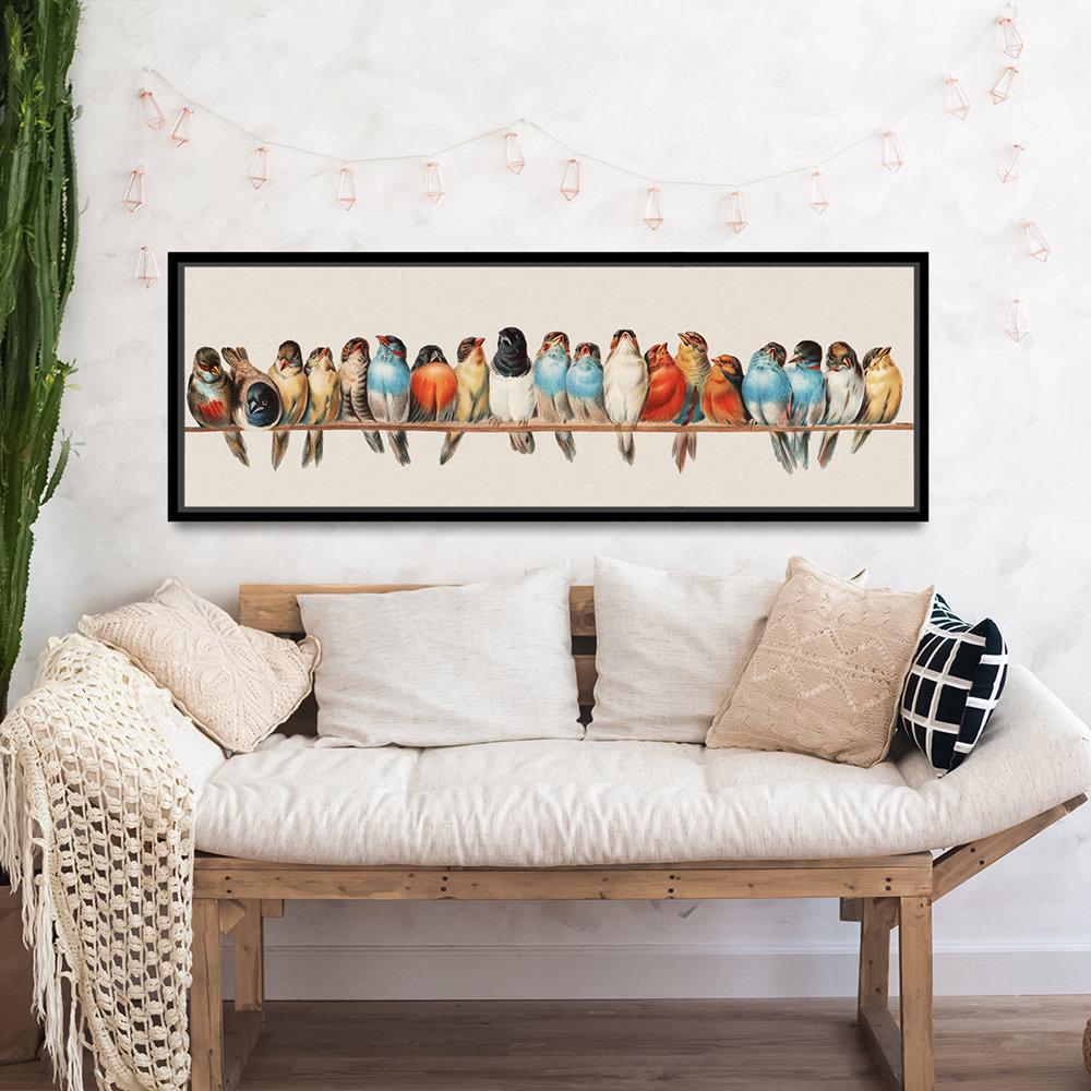 Birds On A Wire Wall Art, Bird Nursery Decor, Birds Nursery Print, Bird  Print, Bird Decor, Bird Lover Gift, Bird Sign, Bird Wall Decor pertaining to Birds On A Wire Wall Decor (Image 8 of 30)