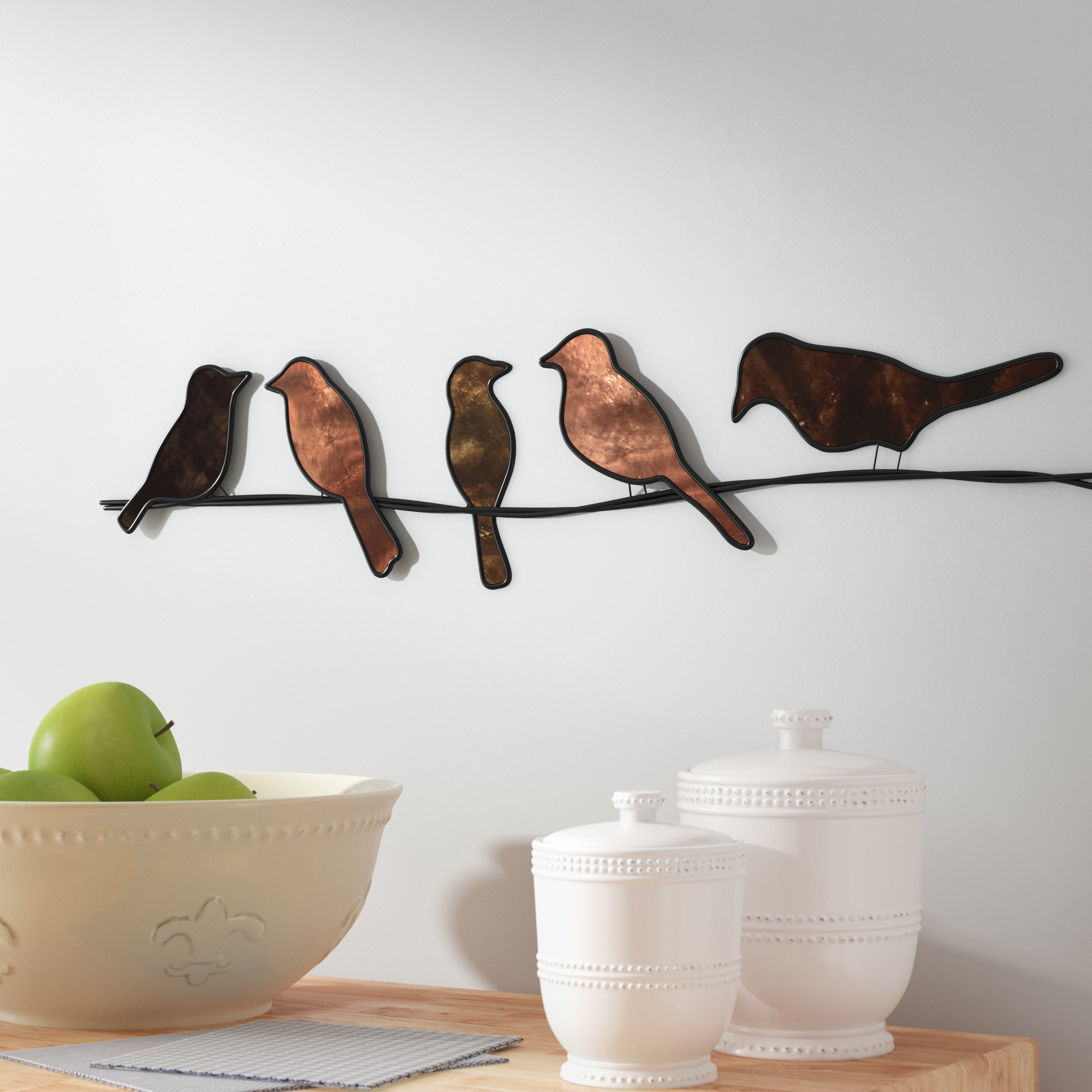 Birds On A Wire Wall Décor pertaining to Metal Wall Decor By Winston Porter (Image 4 of 30)