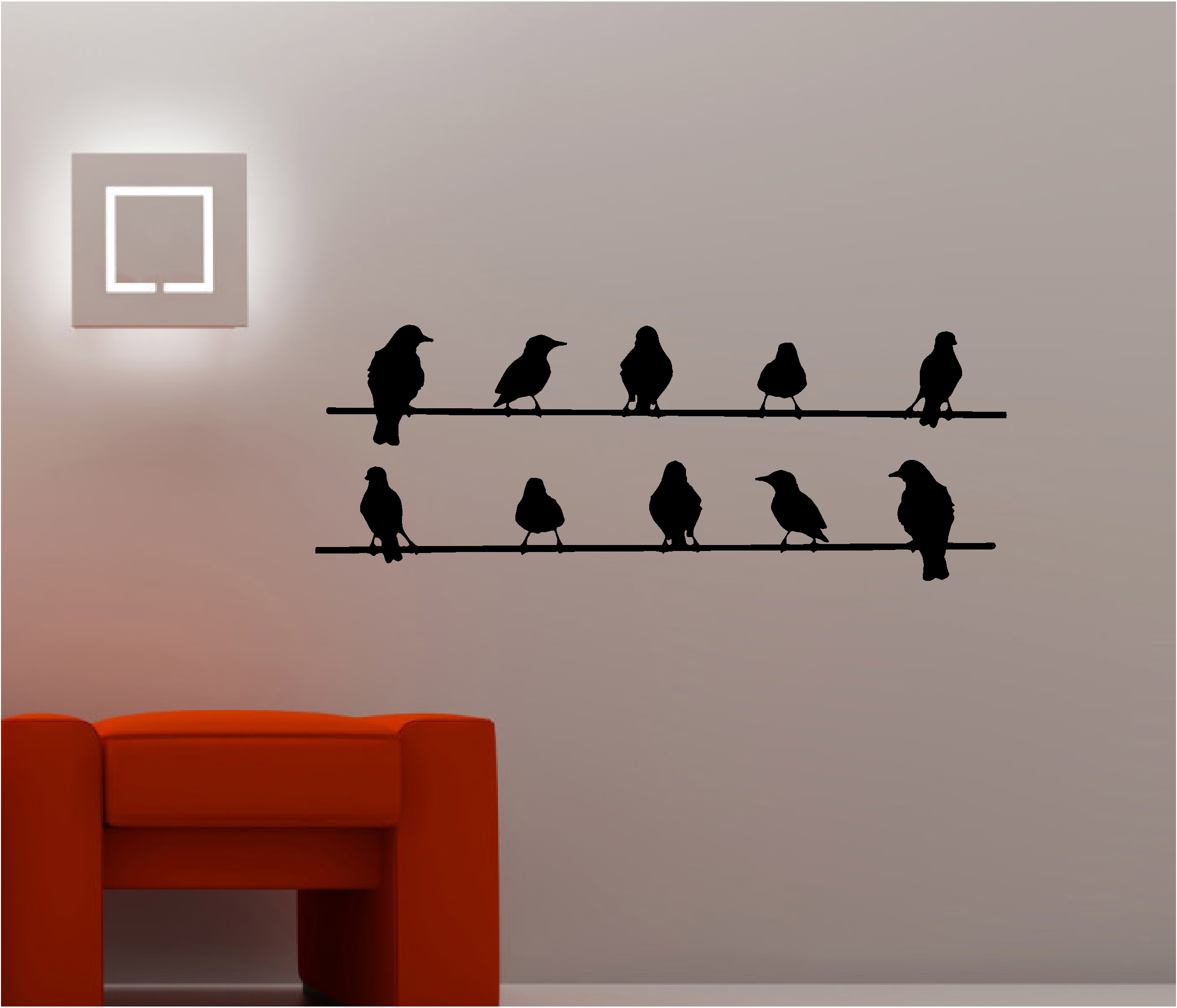 Birds On Wire Wall Art Optimize Every Inch Of Interior With throughout Birds on a Wire Wall Decor (Image 15 of 30)