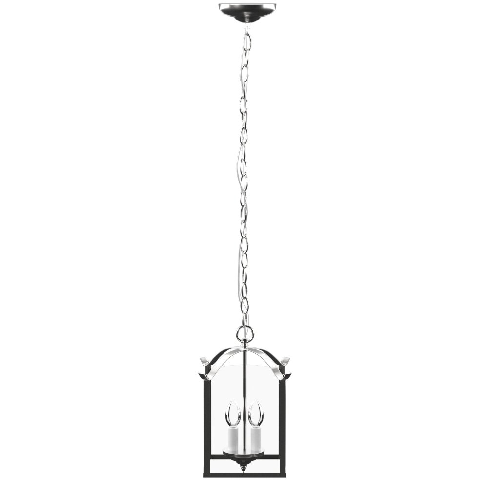 Birkett 2-Light Pendant pertaining to Chauvin 3-Light Lantern Geometric Pendants (Image 3 of 30)