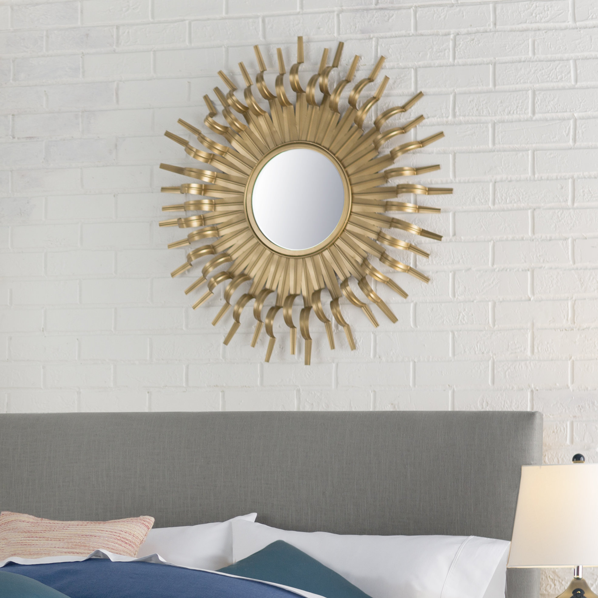 Birksgate Accent Mirror with Josephson Starburst Glam Beveled Accent Wall Mirrors (Image 3 of 22)