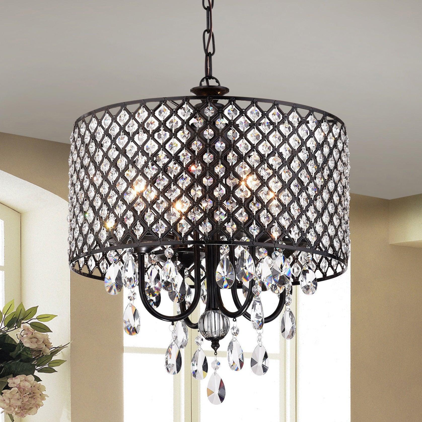 Black, Crystal Ceiling Lights | Shop Our Best Lighting in Johanne 6-Light Sputnik Chandeliers (Image 3 of 30)