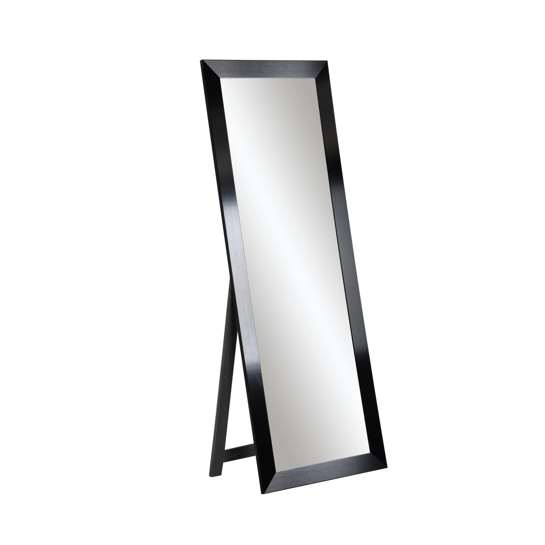 Black Industrial Freestanding Full Length Mirror With Regard To Industrial Full Length Mirrors (View 4 of 30)