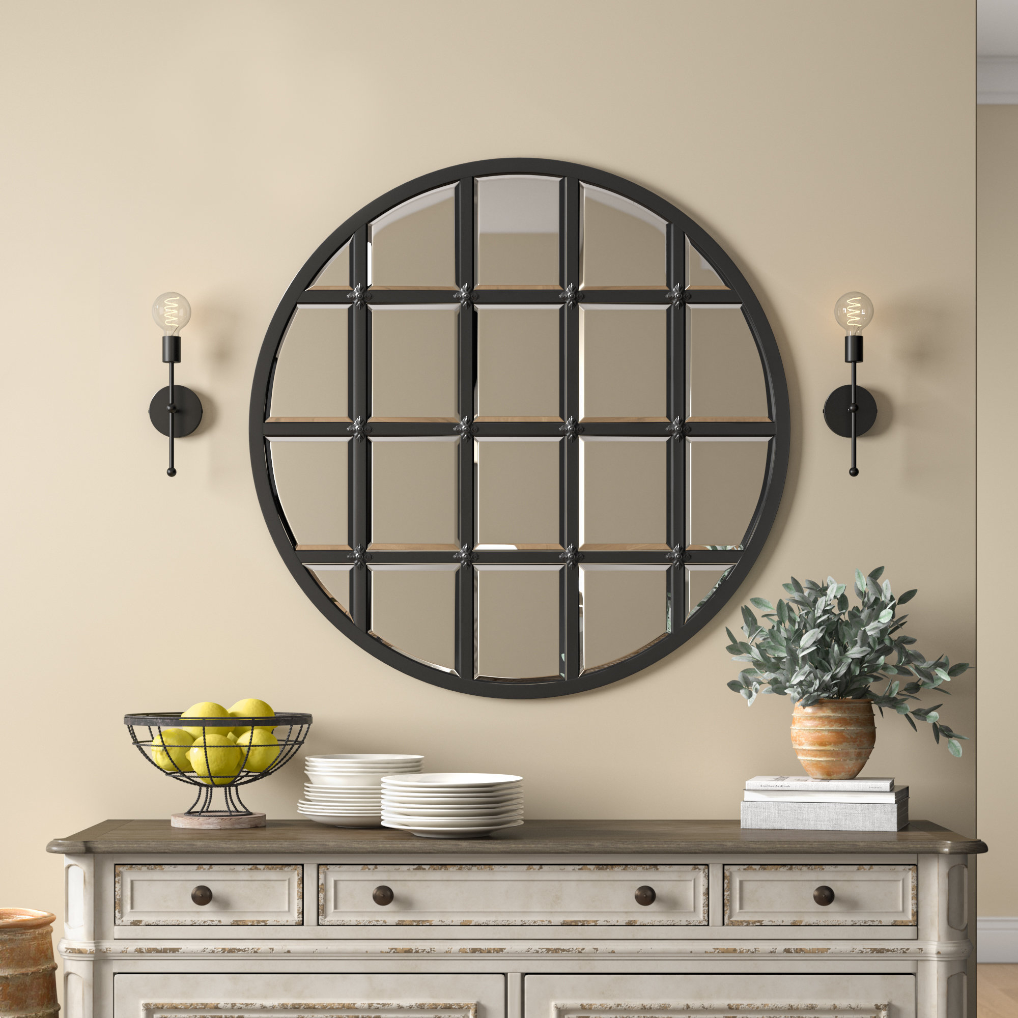 Black Industrial Wall Mirrors You'll Love In 2019   Wayfair Regarding Austin Industrial Accent Mirrors (Image 9 of 30)