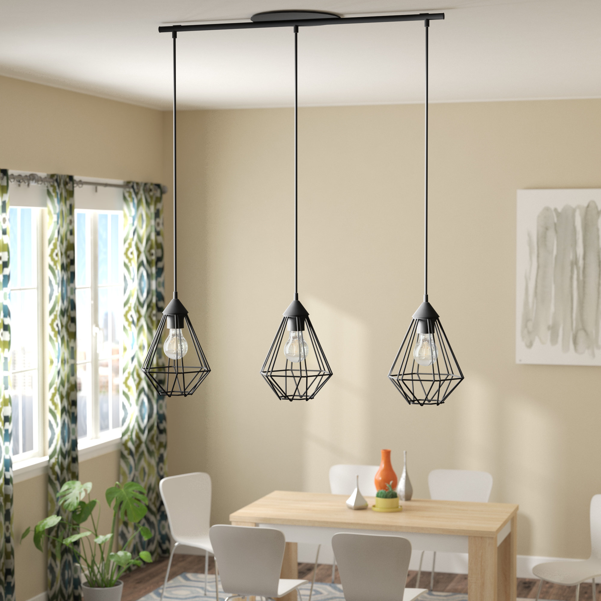Black Kitchen Island Pendant Lighting You'll Love In 2019 throughout Schutt 4-Light Kitchen Island Pendants (Image 3 of 30)