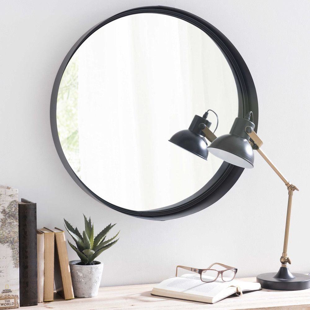 Black Metal Round Mirror D 60 | House Inspiration | Mirror pertaining to Swagger Accent Wall Mirrors (Image 2 of 30)
