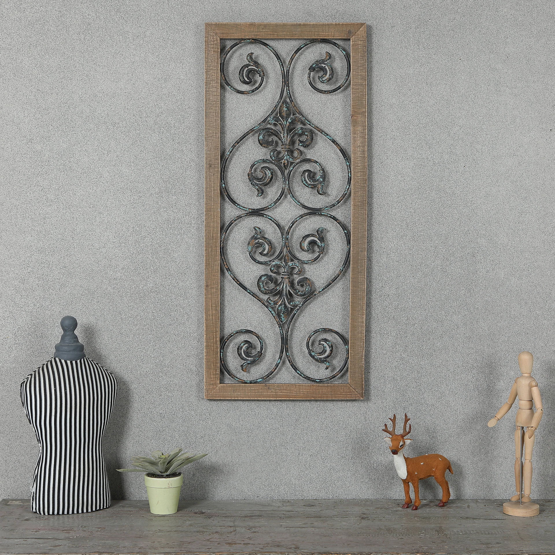 Black Metal Scroll Wall Decor | Wayfair With Regard To Ornamental Wood And Metal Scroll Wall Decor (View 8 of 30)