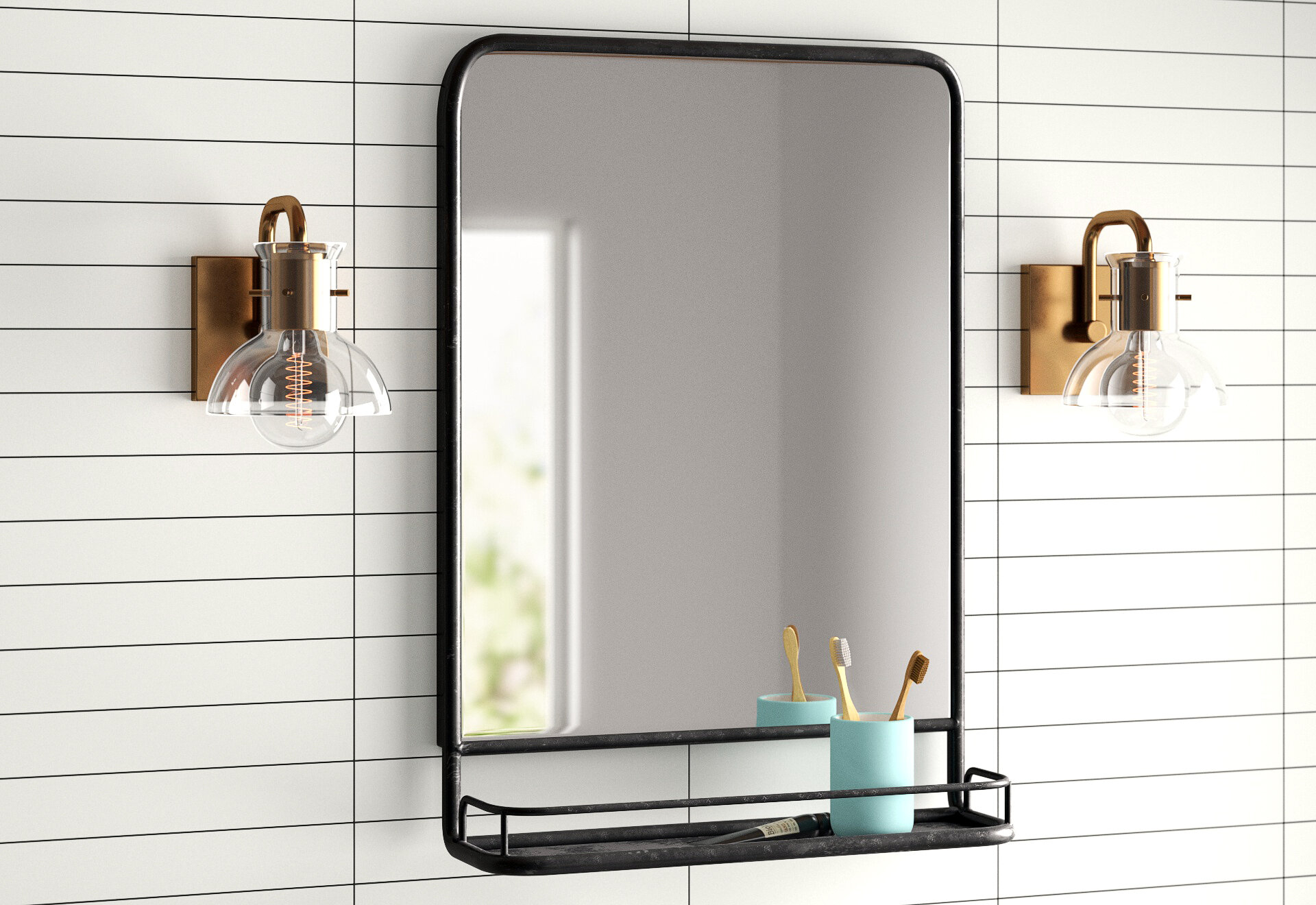 Black Mirrors You'll Love In 2019 | Wayfair.ca throughout Peetz Modern Rustic Accent Mirrors (Image 4 of 30)