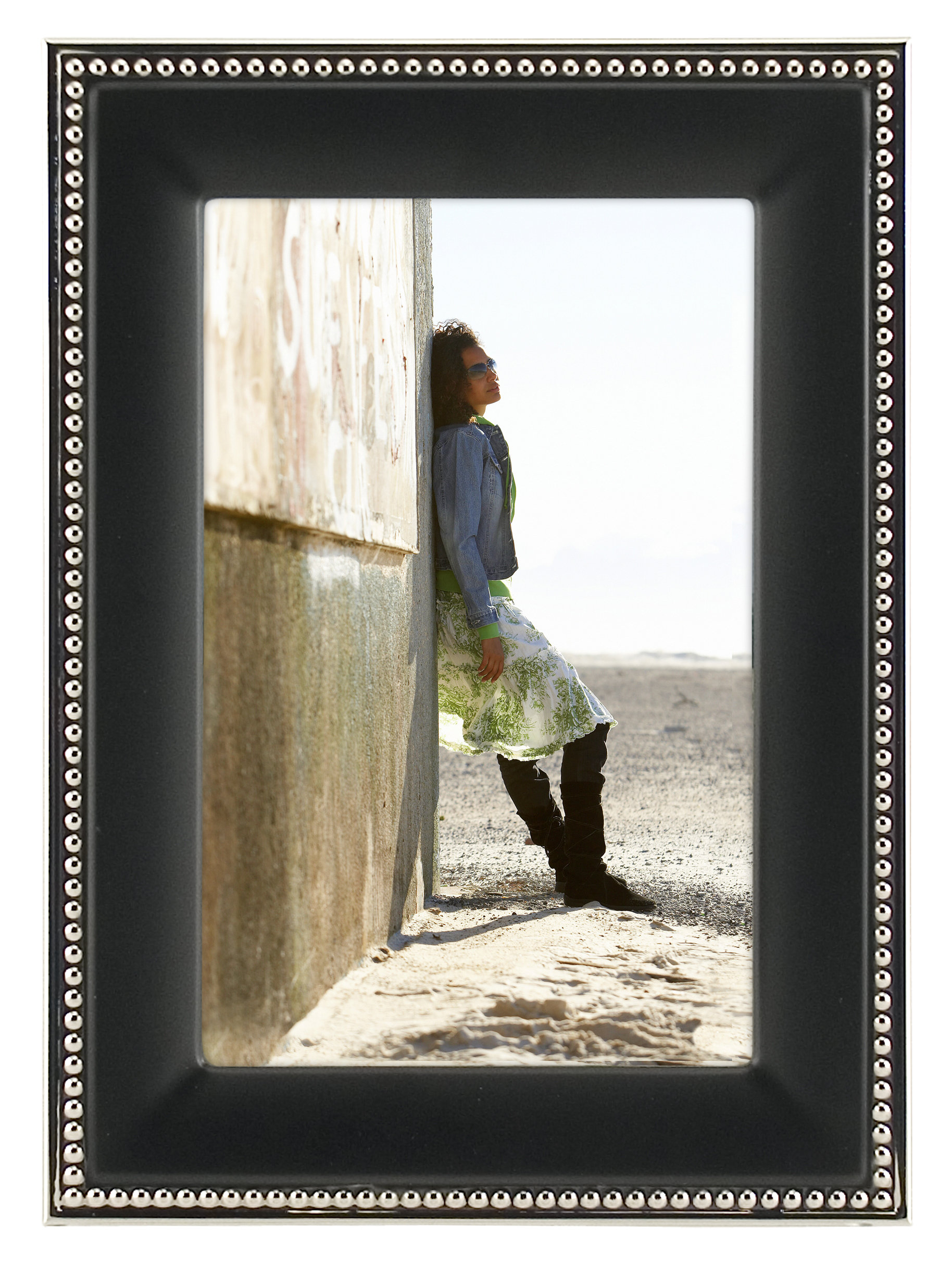 Black Picture Frames | Joss & Main pertaining to Millanocket Metal Wheel Photo Holder Wall Decor (Image 4 of 30)