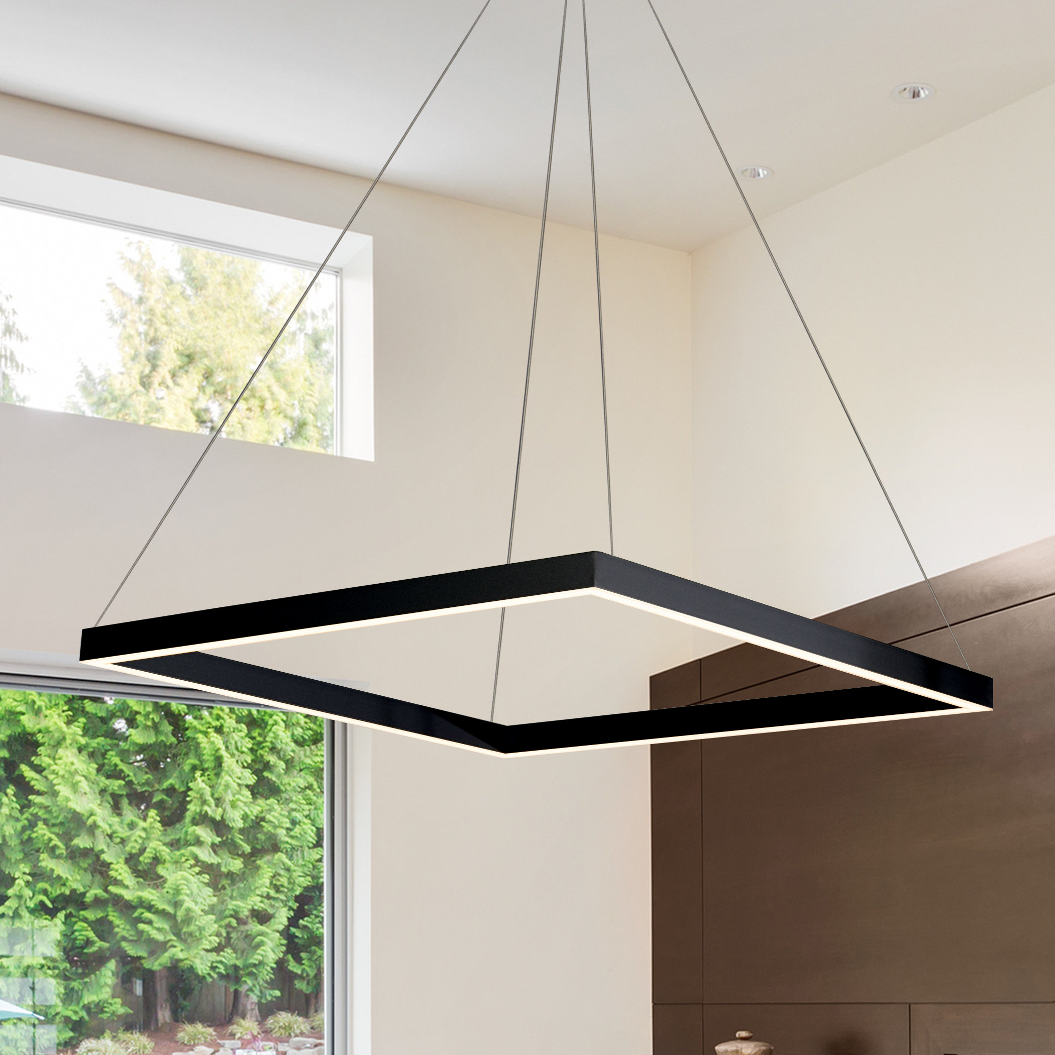 Black Square & Rectangular Chandeliers You'll Love In 2019 In Hewitt 4 Light Square Chandeliers (View 15 of 30)
