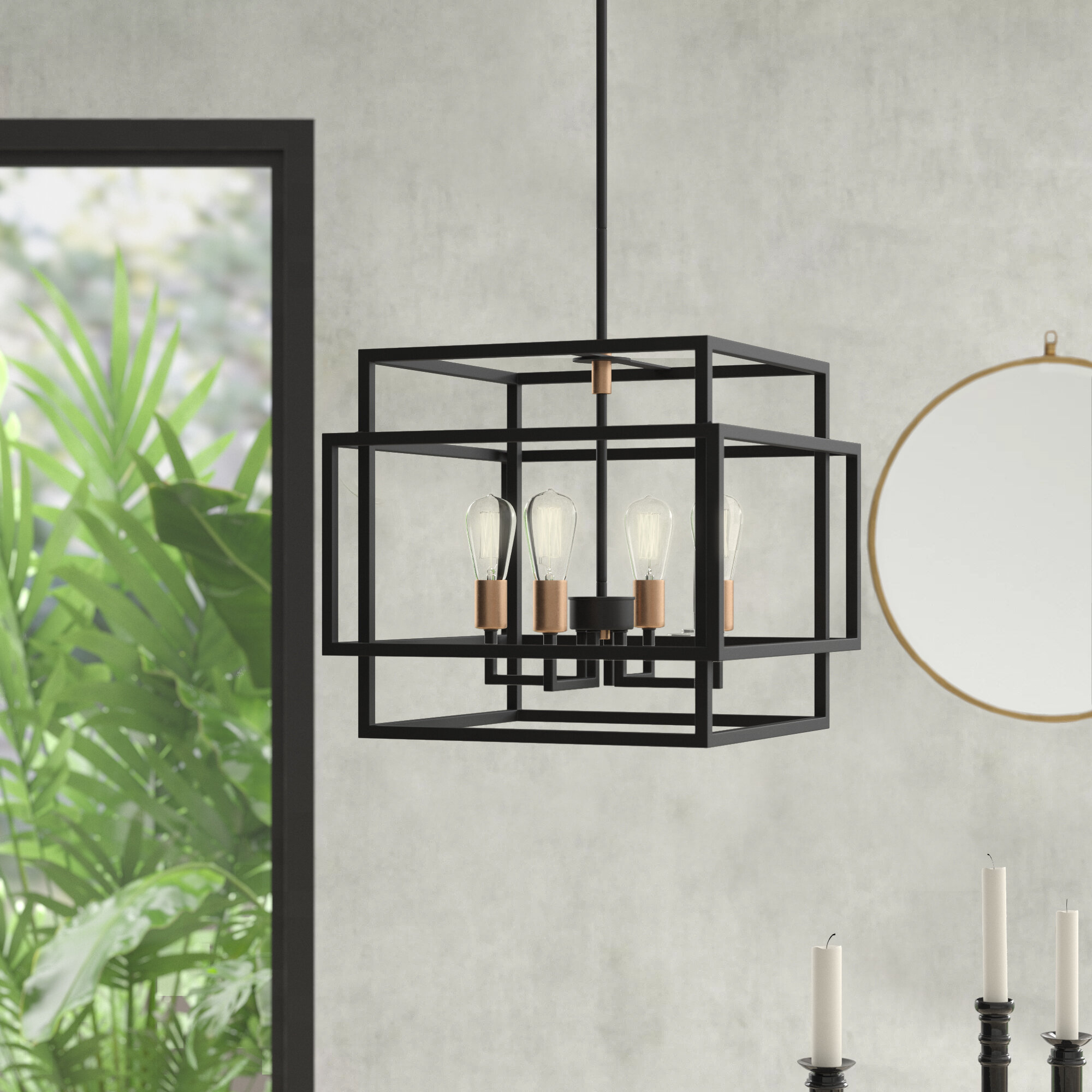 Black Square & Rectangular Chandeliers You'll Love In 2019 Intended For Hewitt 4 Light Square Chandeliers (View 7 of 30)