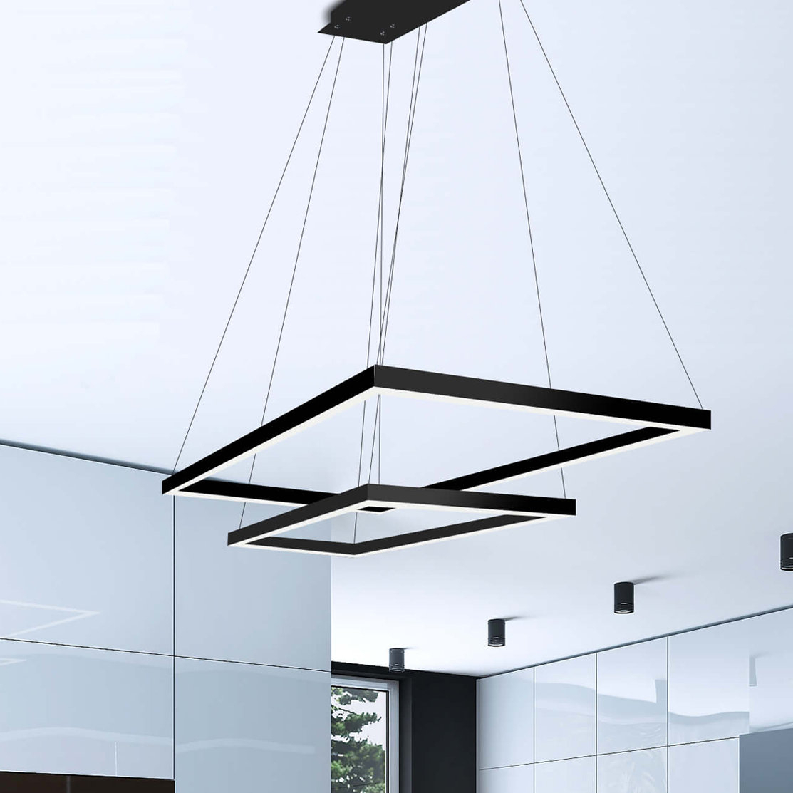 Black Square & Rectangular Chandeliers You'll Love In 2019 Regarding Hewitt 4 Light Square Chandeliers (View 13 of 30)