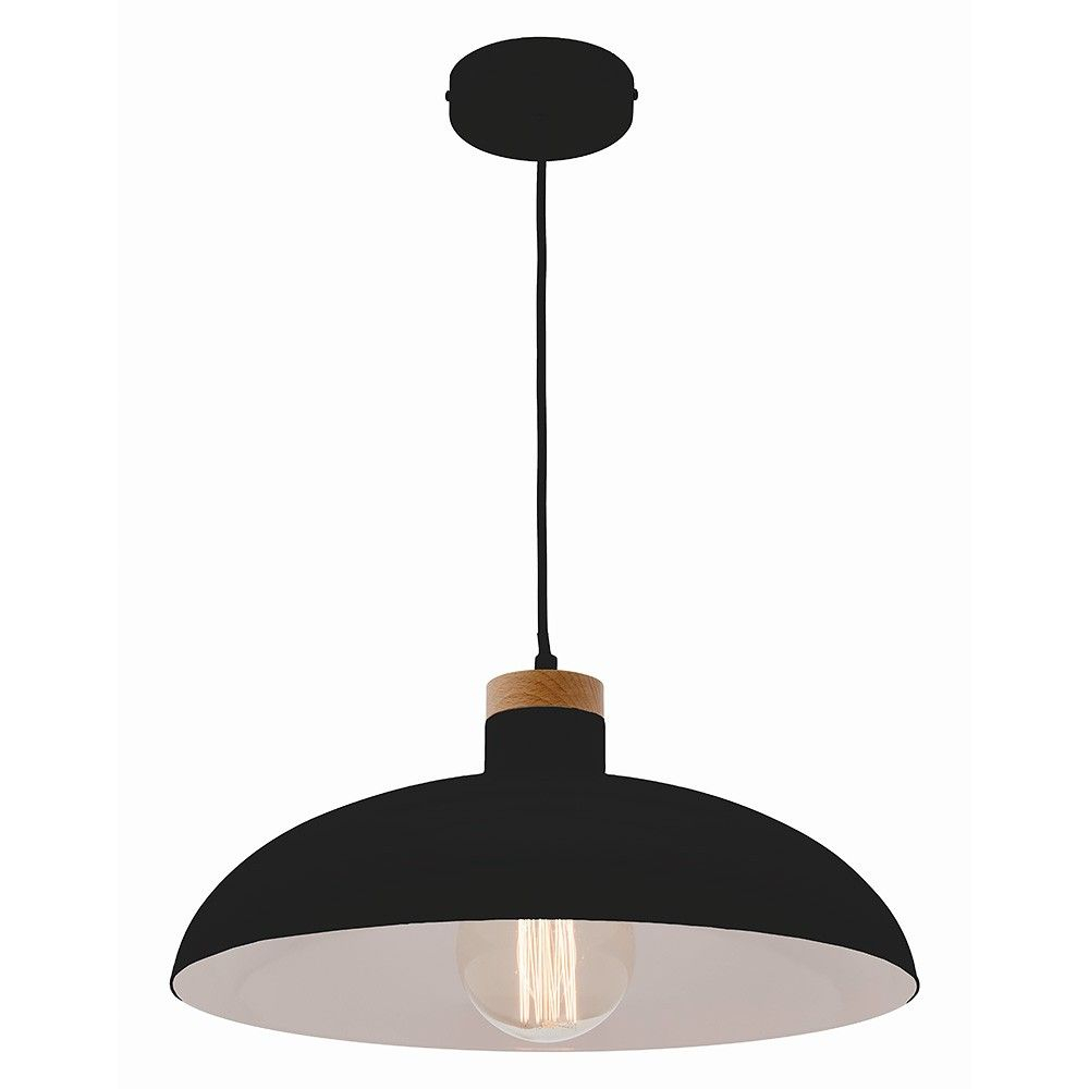 Black Urban Pendant Light - Life Interiors - Life Interiors throughout Conover 1-Light Dome Pendants (Image 3 of 30)