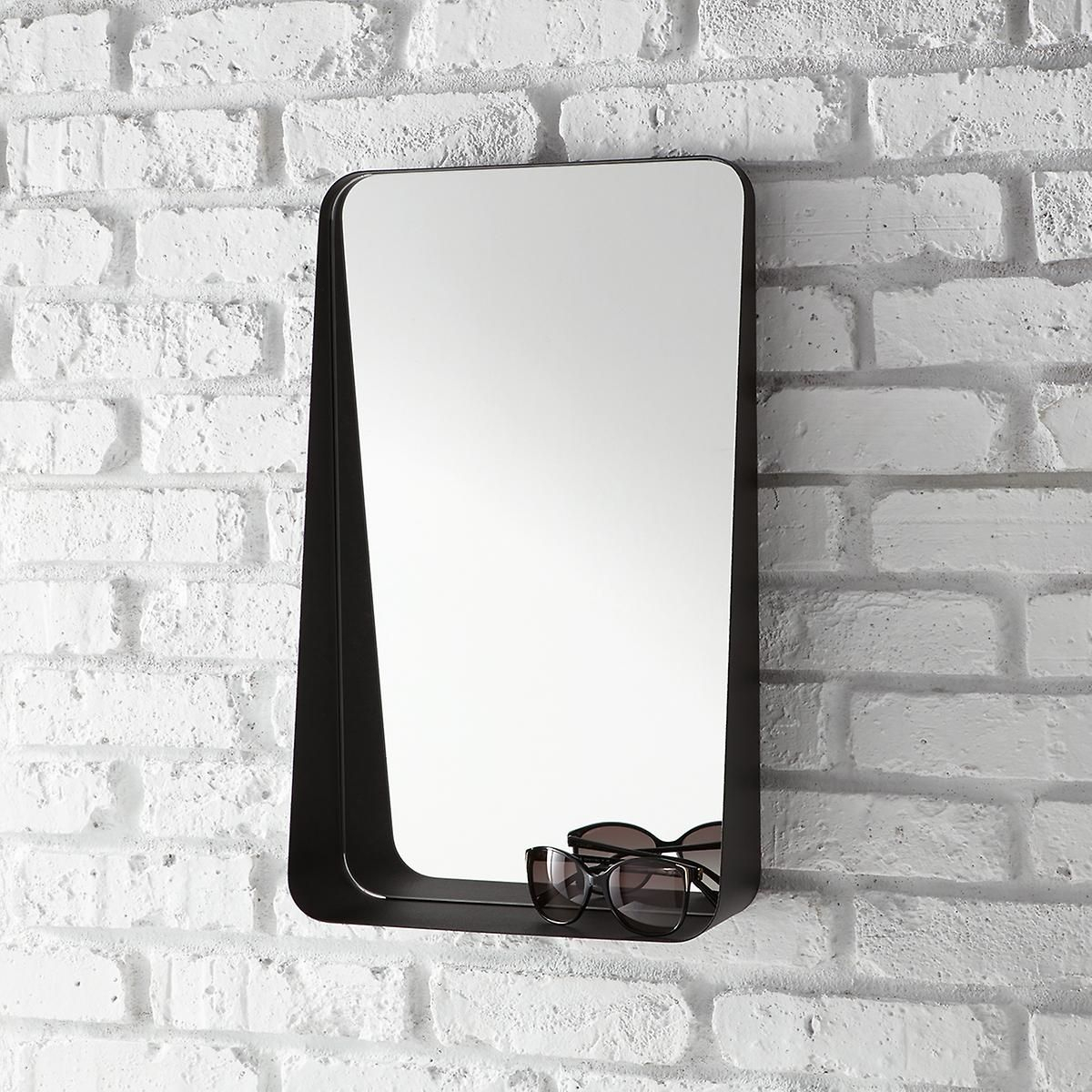 Black Vertical Arch Wall Mirror | The Container Store intended for Arch Vertical Wall Mirrors (Image 13 of 30)