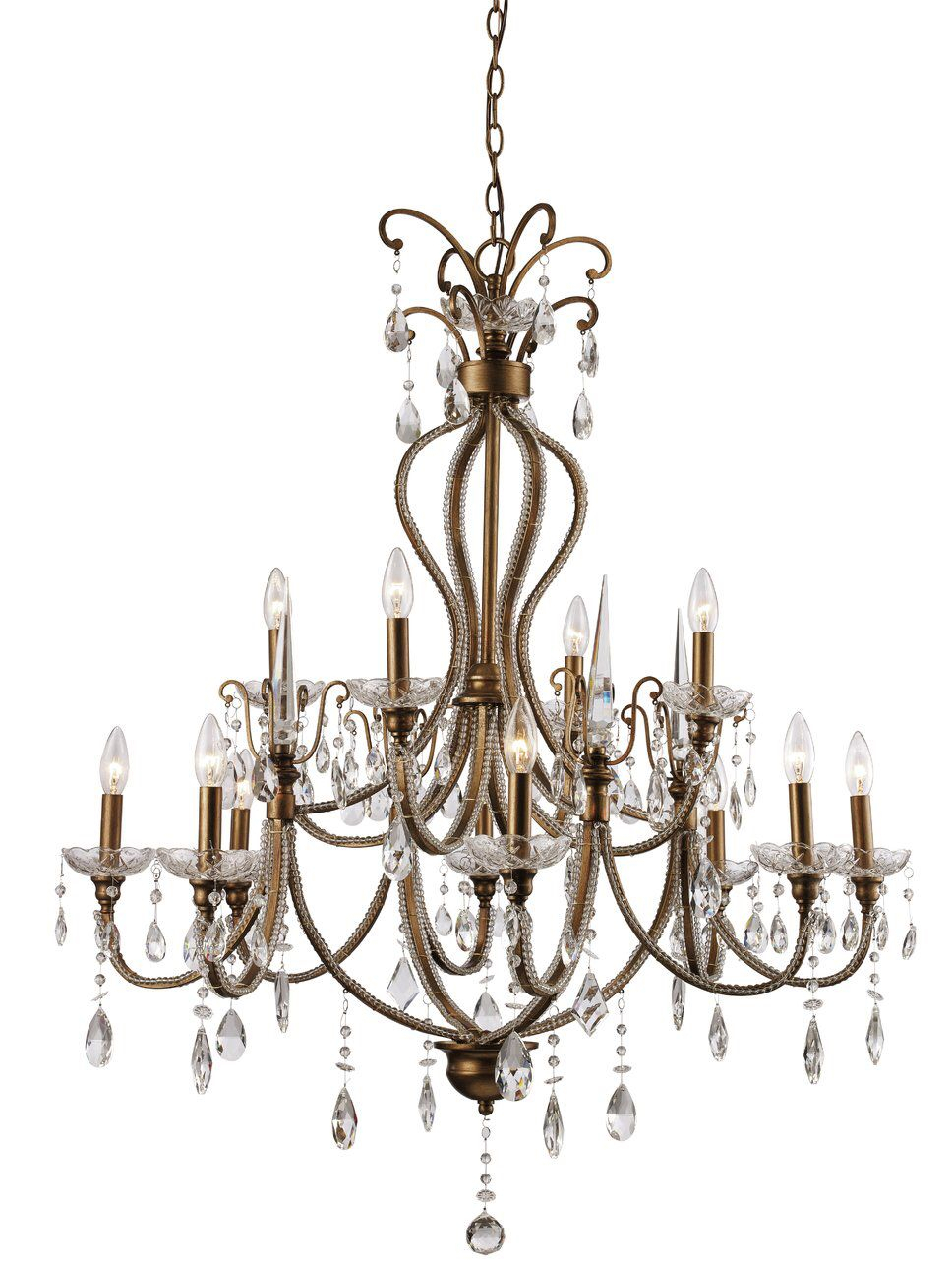 Blandford 12 Light Candle Style Chandelier   Bayou Blvd Throughout Hesse 5 Light Candle Style Chandeliers (View 20 of 30)