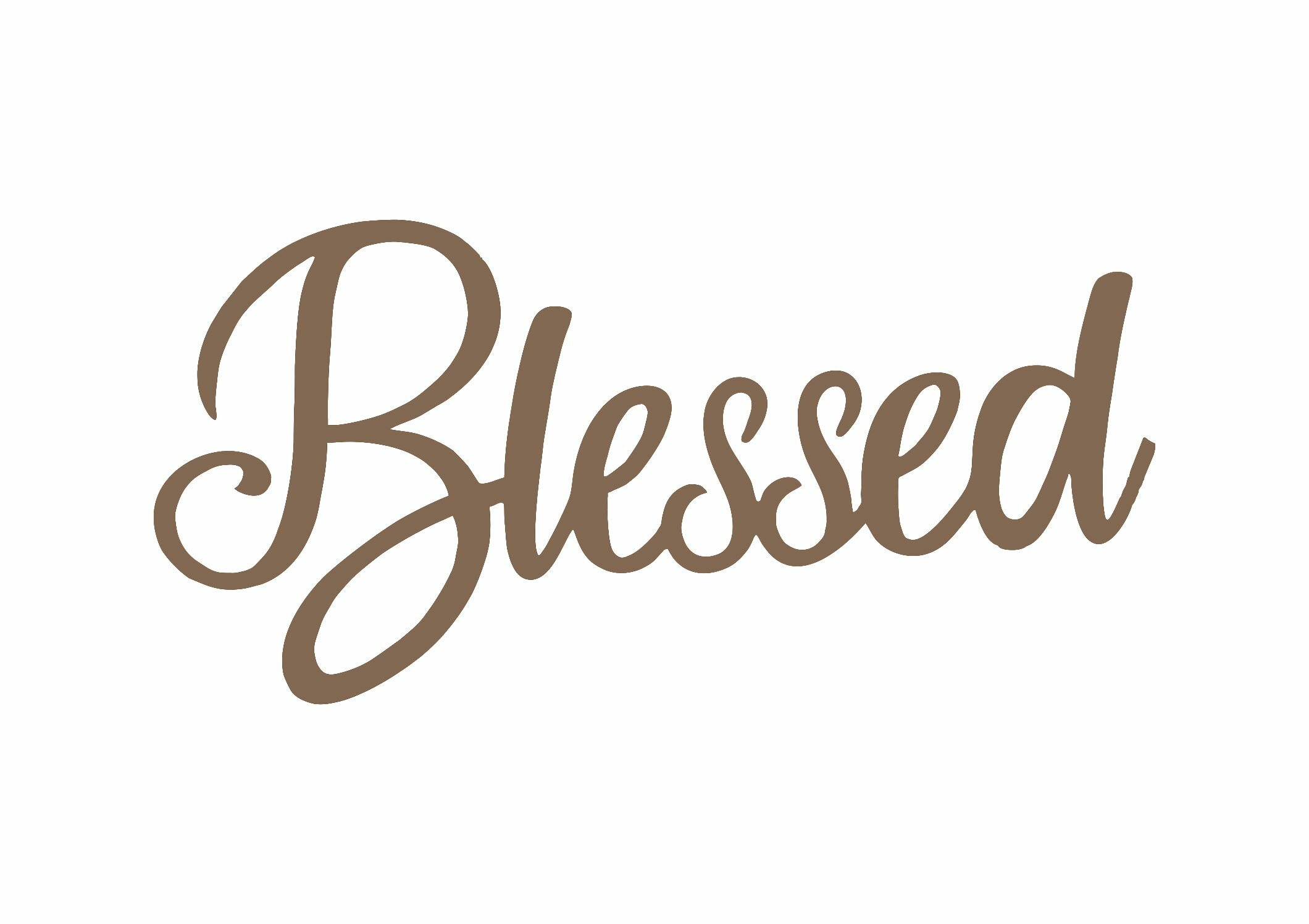 Blessed Script Metal Laser Cut Wall Décor For Blessed Steel Wall Decor (View 5 of 30)