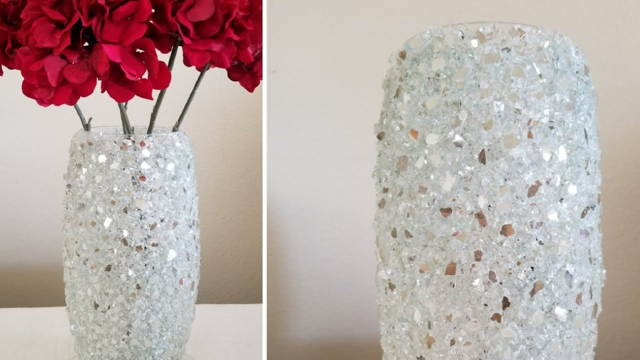 Bling Home Decor | Inexpensive Diy | Crushed Glass Decorative Vase | Home  Decor Trends!!! 2019 inside Vase and Bowl Wall Decor (Image 7 of 30)