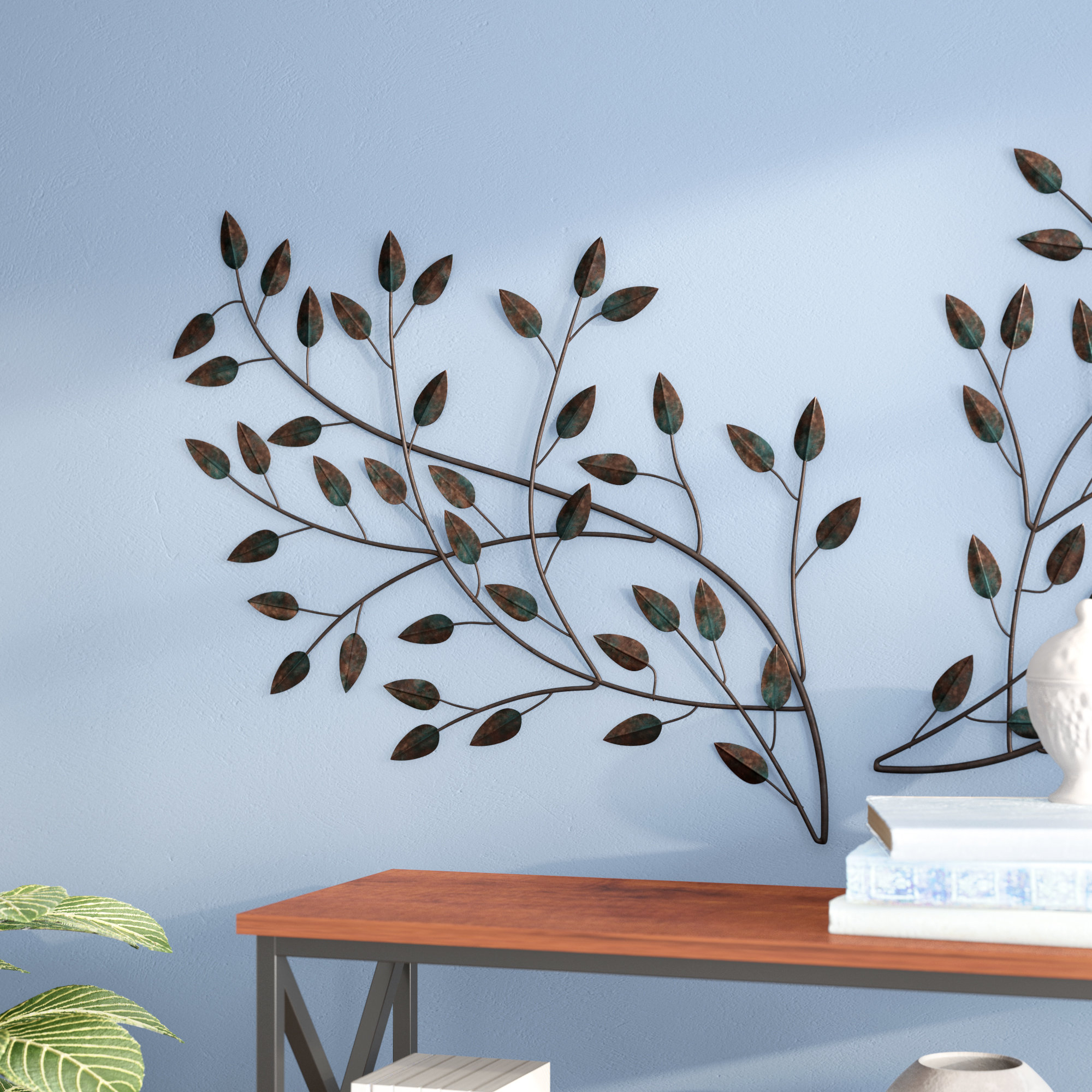 Blowing Leaves Wall Décor Inside Desford Leaf Wall Decor (View 12 of 30)