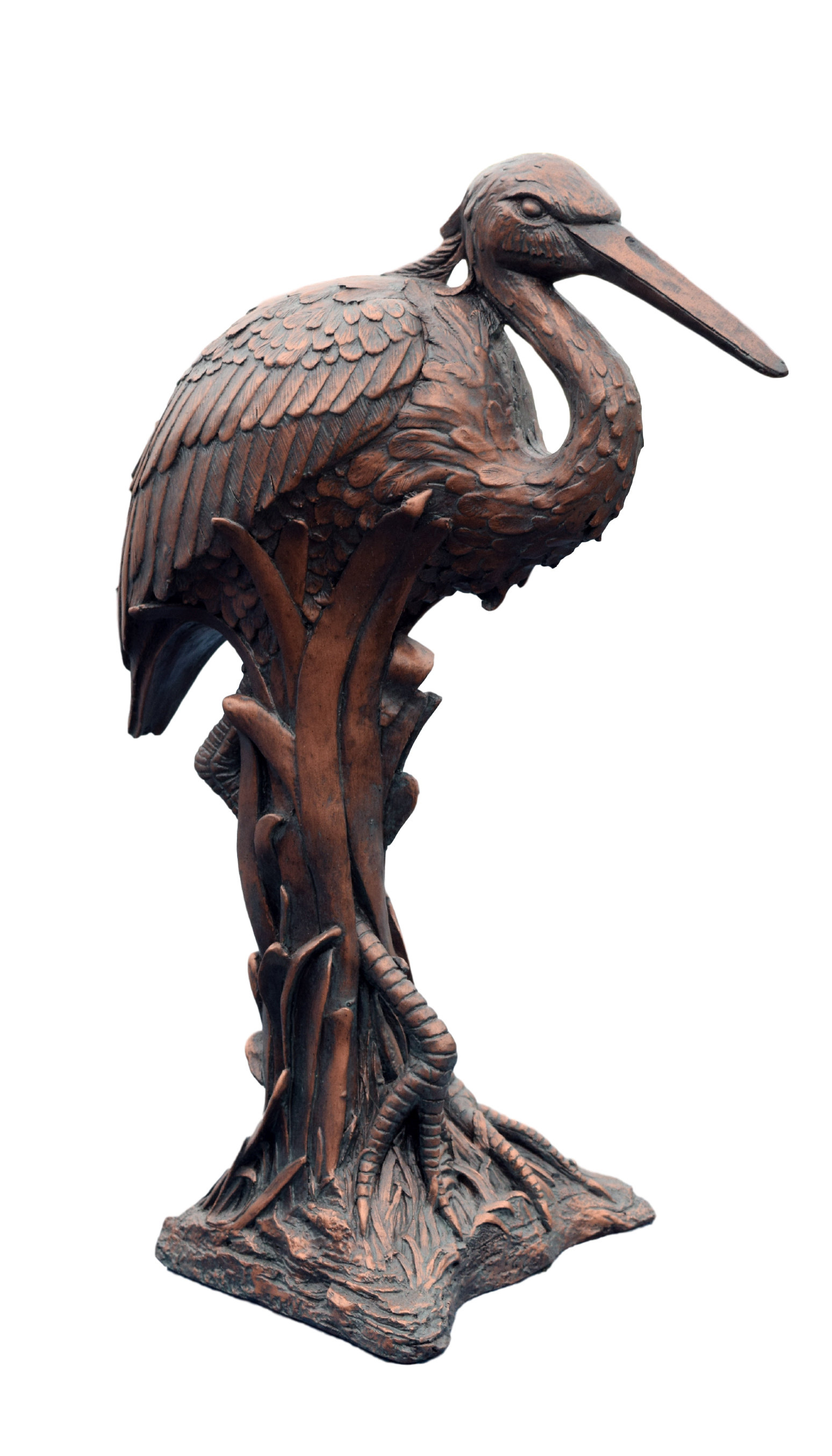 Blue Heron Statue | Wayfair Throughout Reeds Migration Wall Decor Sets (set Of 3) (View 14 of 30)