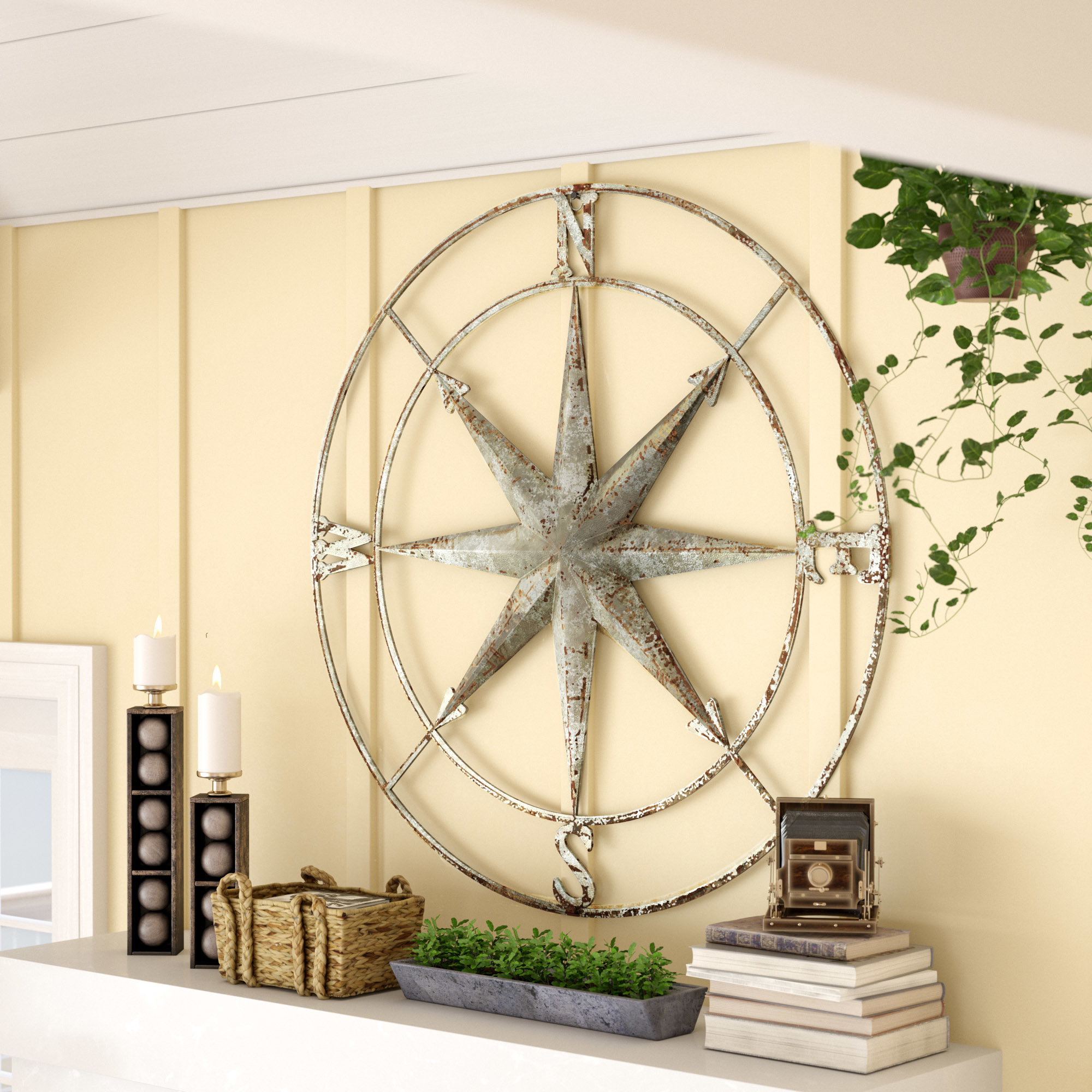 Blue Mosaic Wall Decor | Wayfair Pertaining To Round Compass Wall Decor (View 19 of 30)
