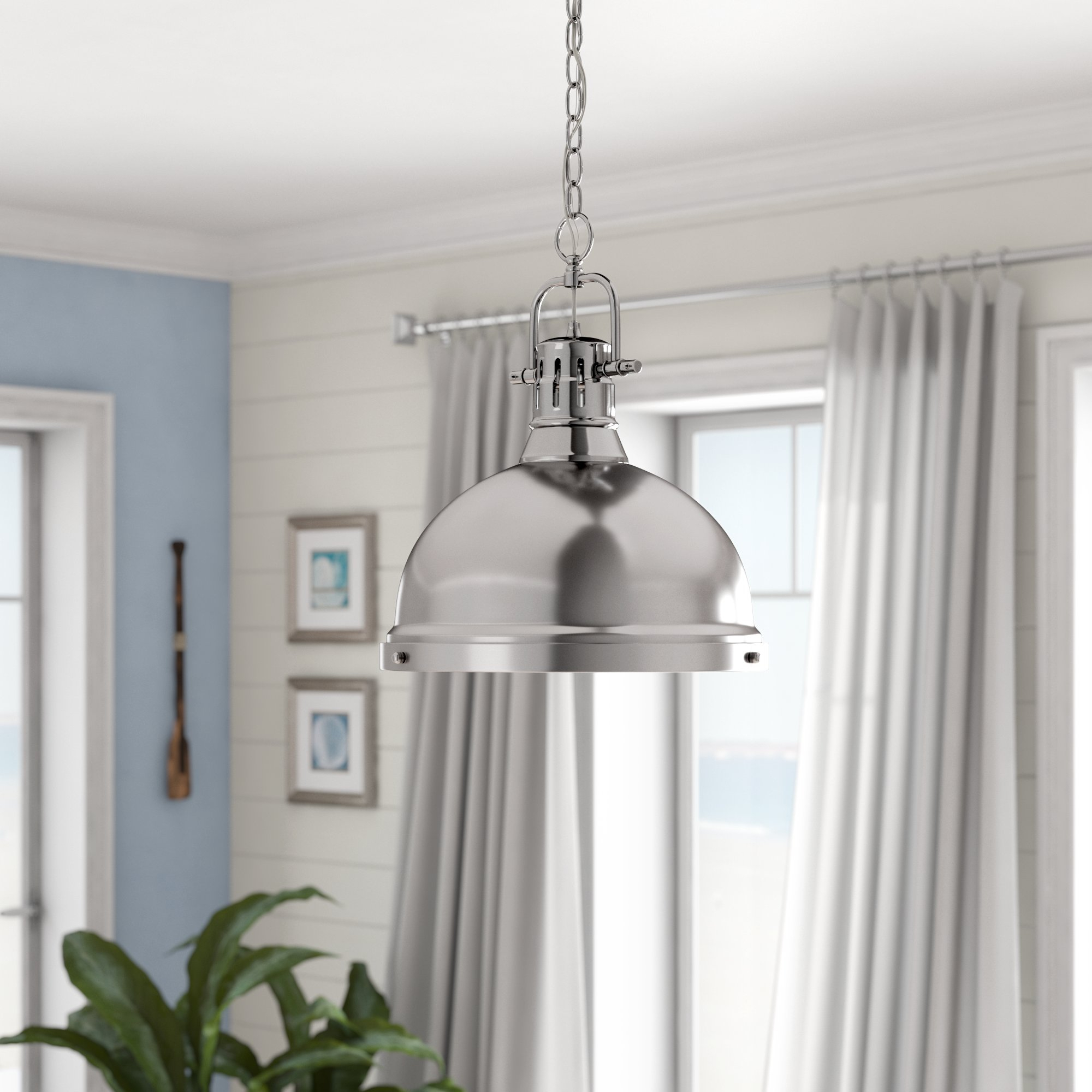Bodalla 1-Light Single Dome Pendant for Priston 1-Light Single Dome Pendants (Image 6 of 30)