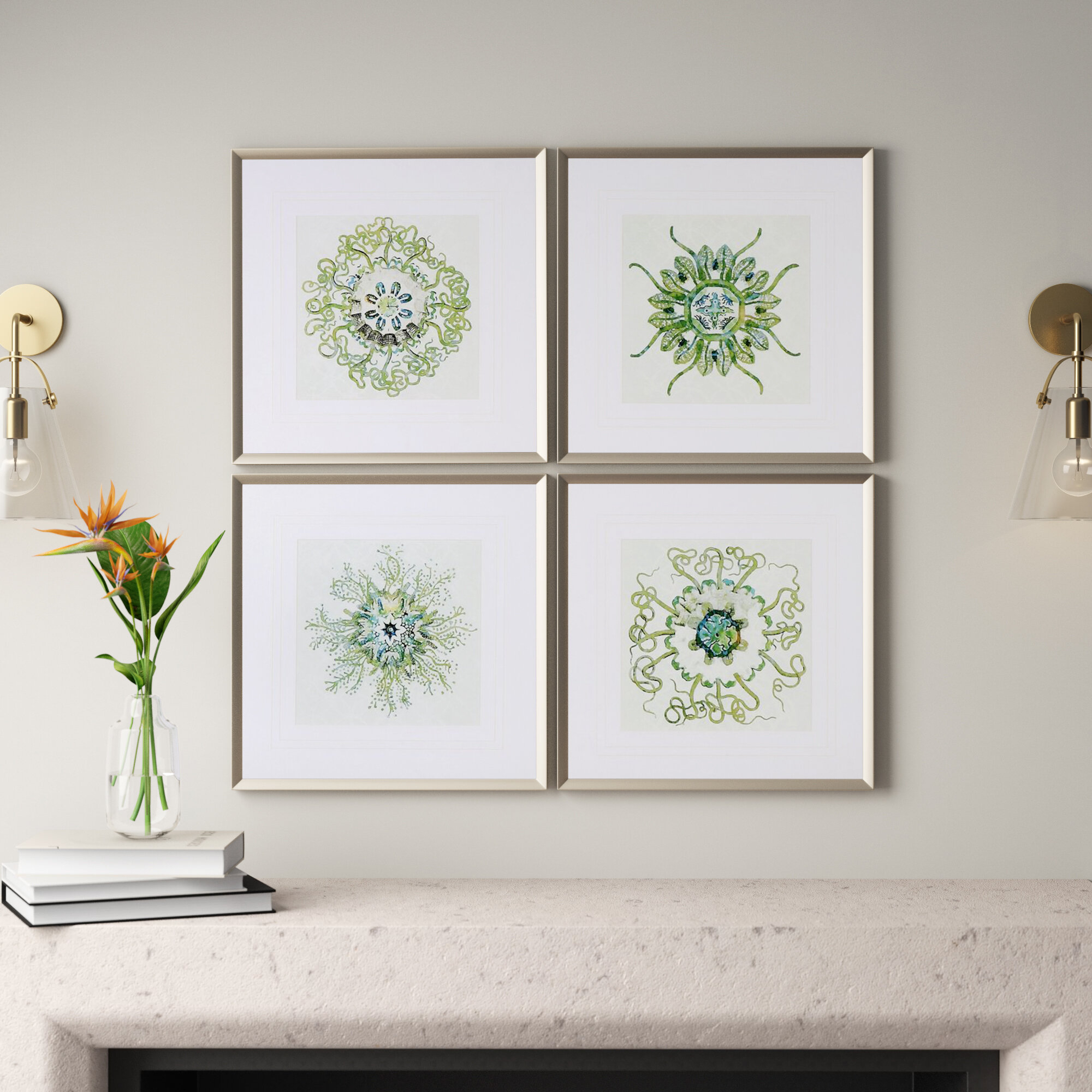 Bohemian Wall Decor | Joss & Main in 3 Piece Ceramic Flowers Wall Decor Sets (Image 15 of 30)