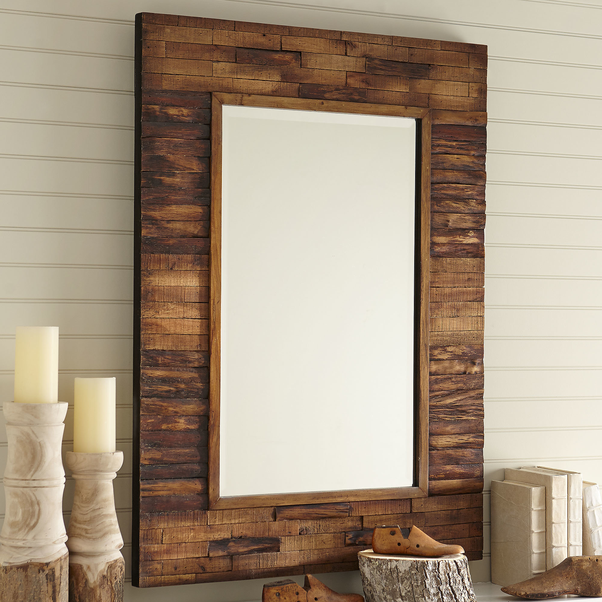 Booth Reclaimed Wall Mirror Accent Pertaining To Newtown Accent Mirrors (View 13 of 30)