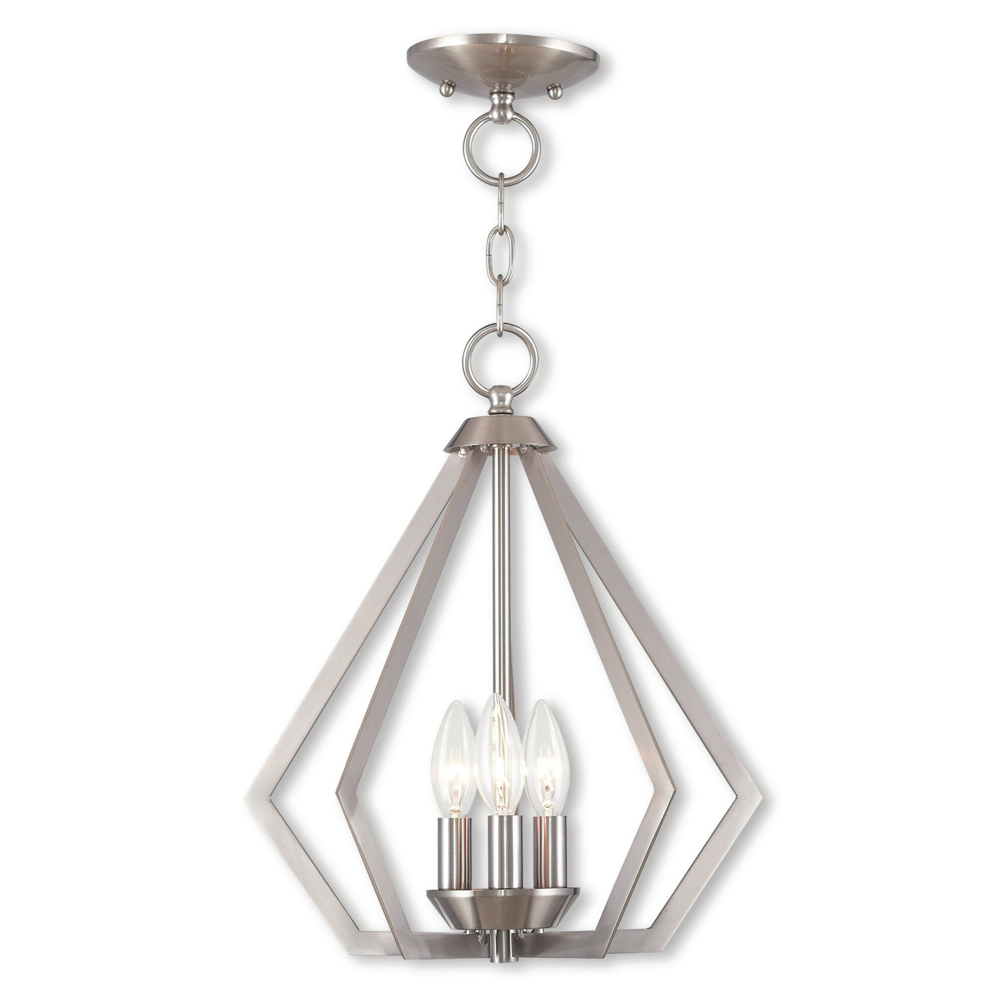Borasisi 3-Light Lantern Geometric Pendant throughout Chauvin 3-Light Lantern Geometric Pendants (Image 4 of 30)