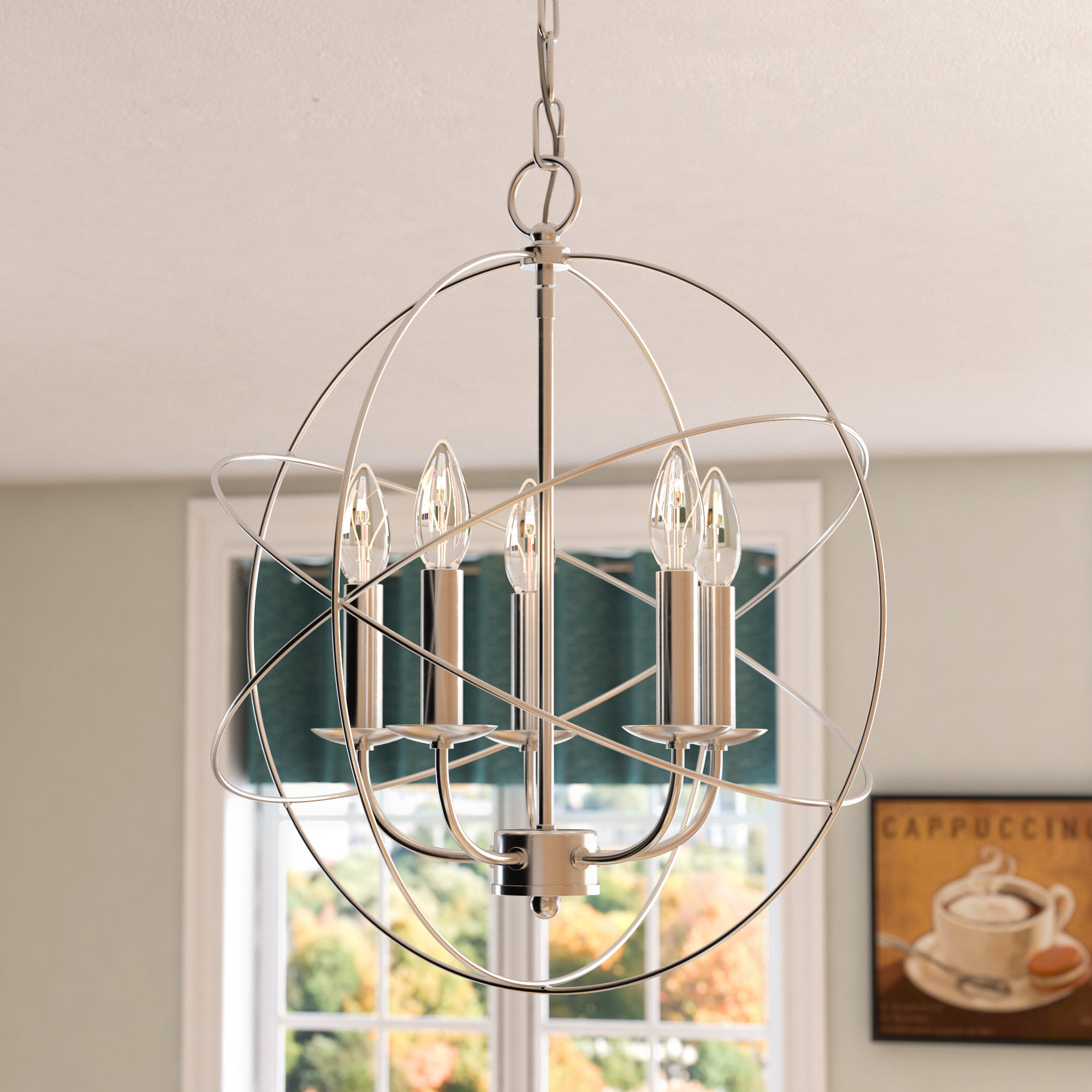 Bordelon 5 Light Globe Chandelier For Alden 6 Light Globe Chandeliers (View 12 of 30)