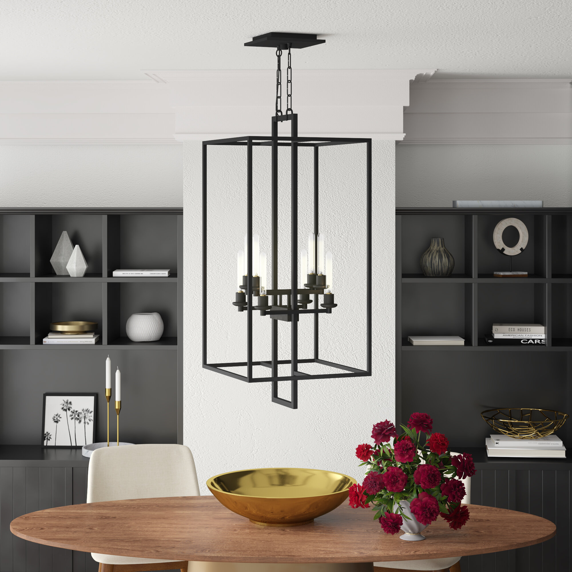 Borkowski 8-Light Square/rectangle Chandelier intended for Odie 8-Light Kitchen Island Square / Rectangle Pendants (Image 2 of 30)