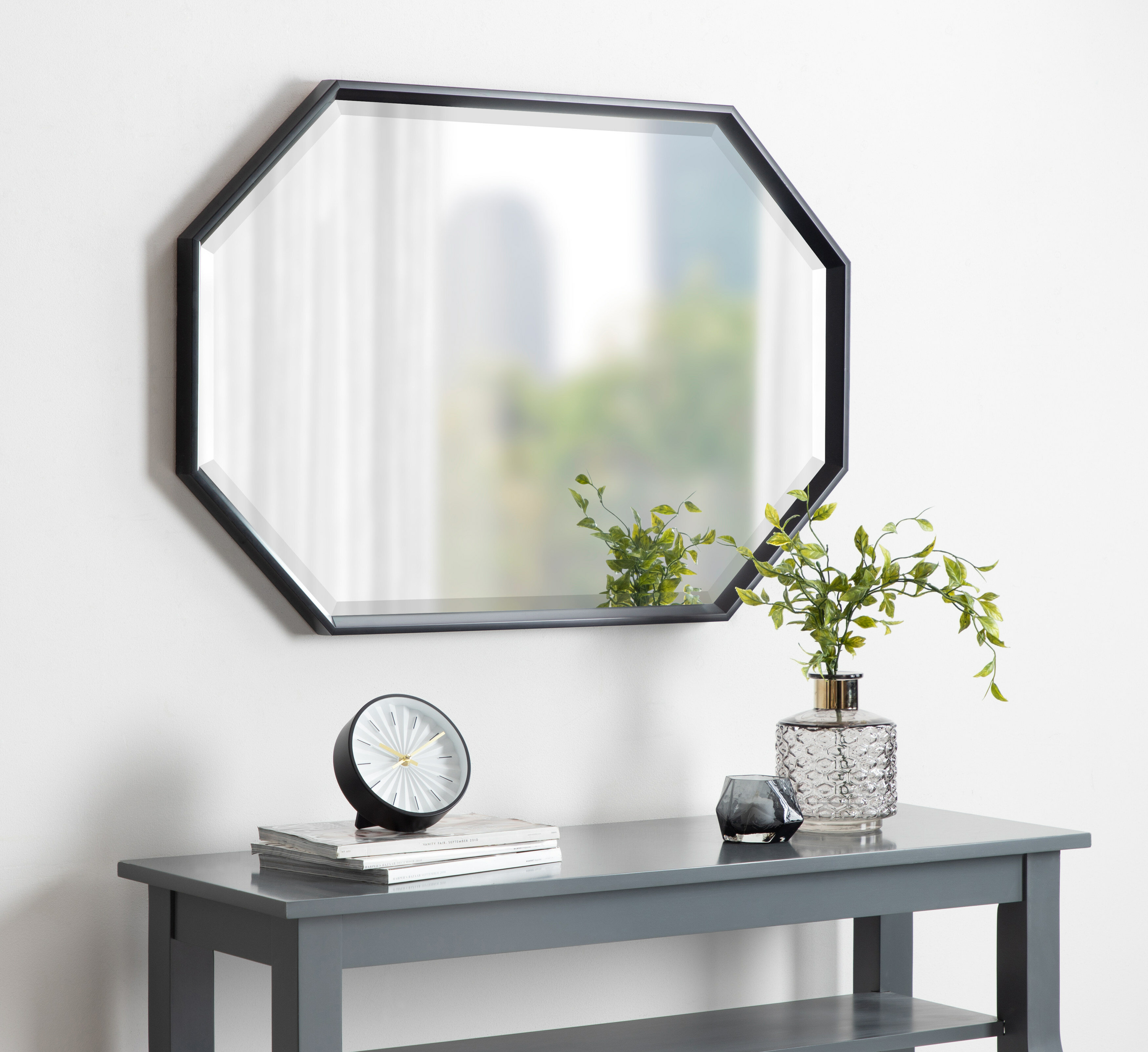 Botello Elongated Octagon Modern Beveled Accent Mirror Inside Modern & Contemporary Beveled Accent Mirrors (View 6 of 30)