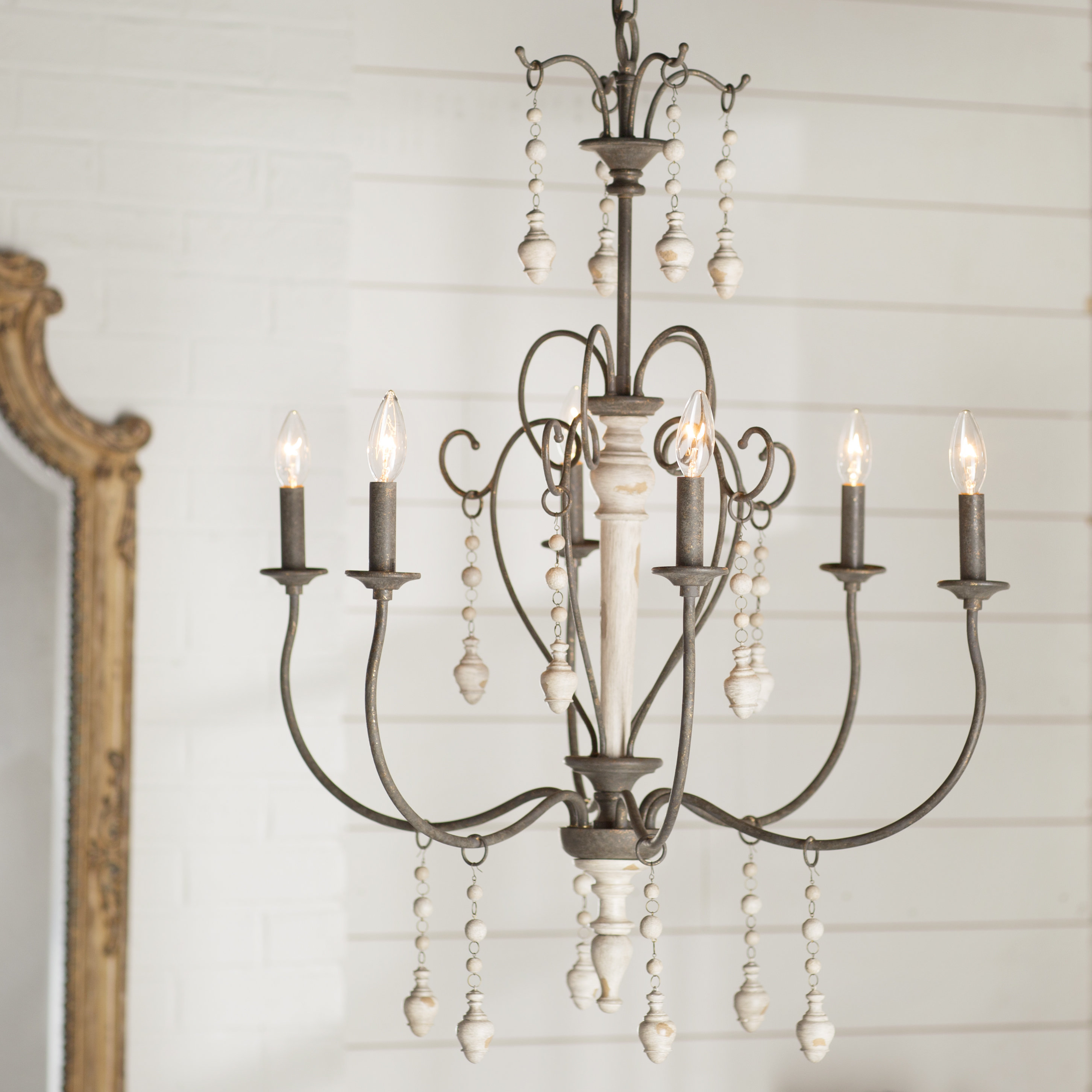 Bouchette Traditional 6-Light Candle Style Chandelier with regard to Shaylee 5-Light Candle Style Chandeliers (Image 4 of 30)