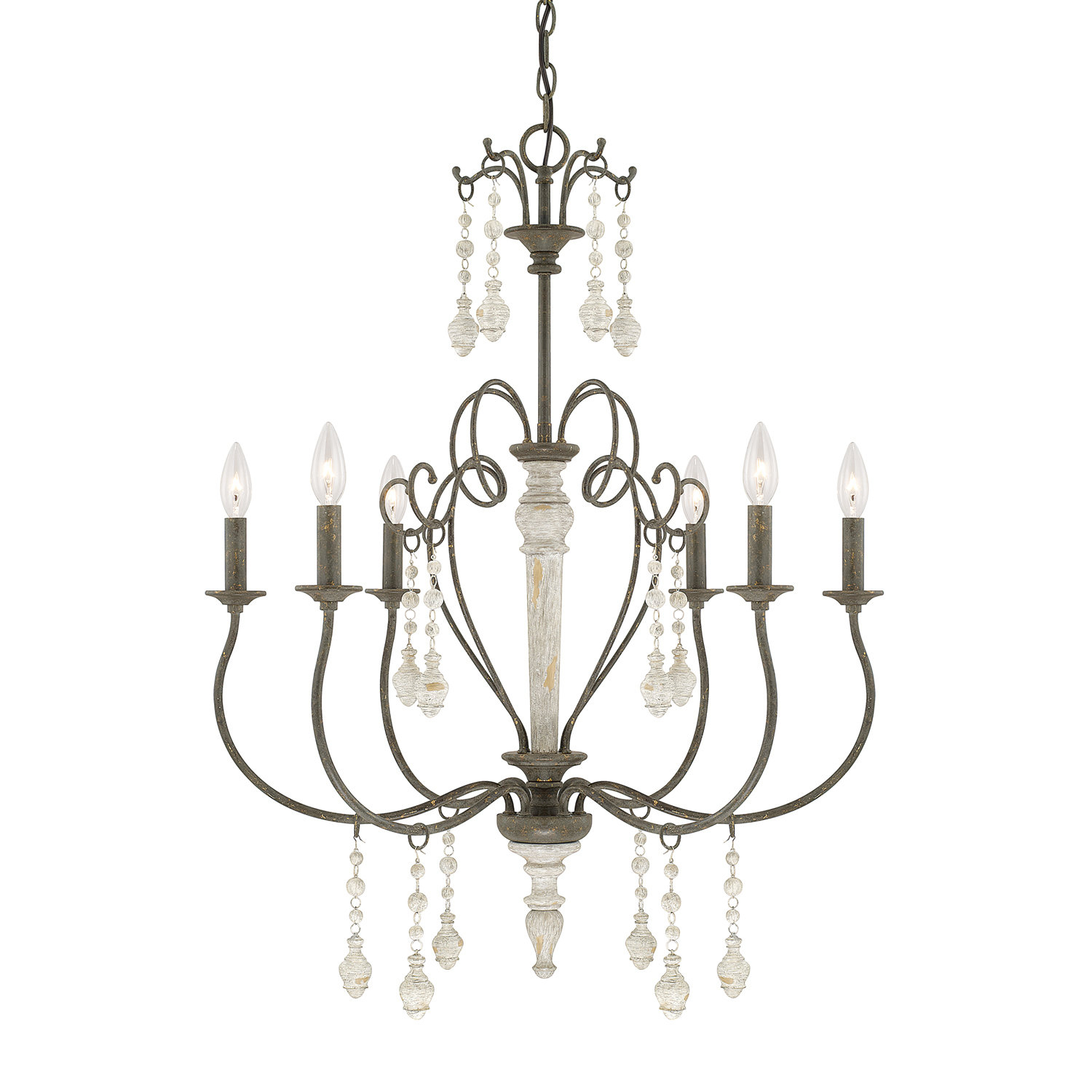 Bouchette Traditional 6-Light Chandelier in Corneau 5-Light Chandeliers (Image 7 of 30)